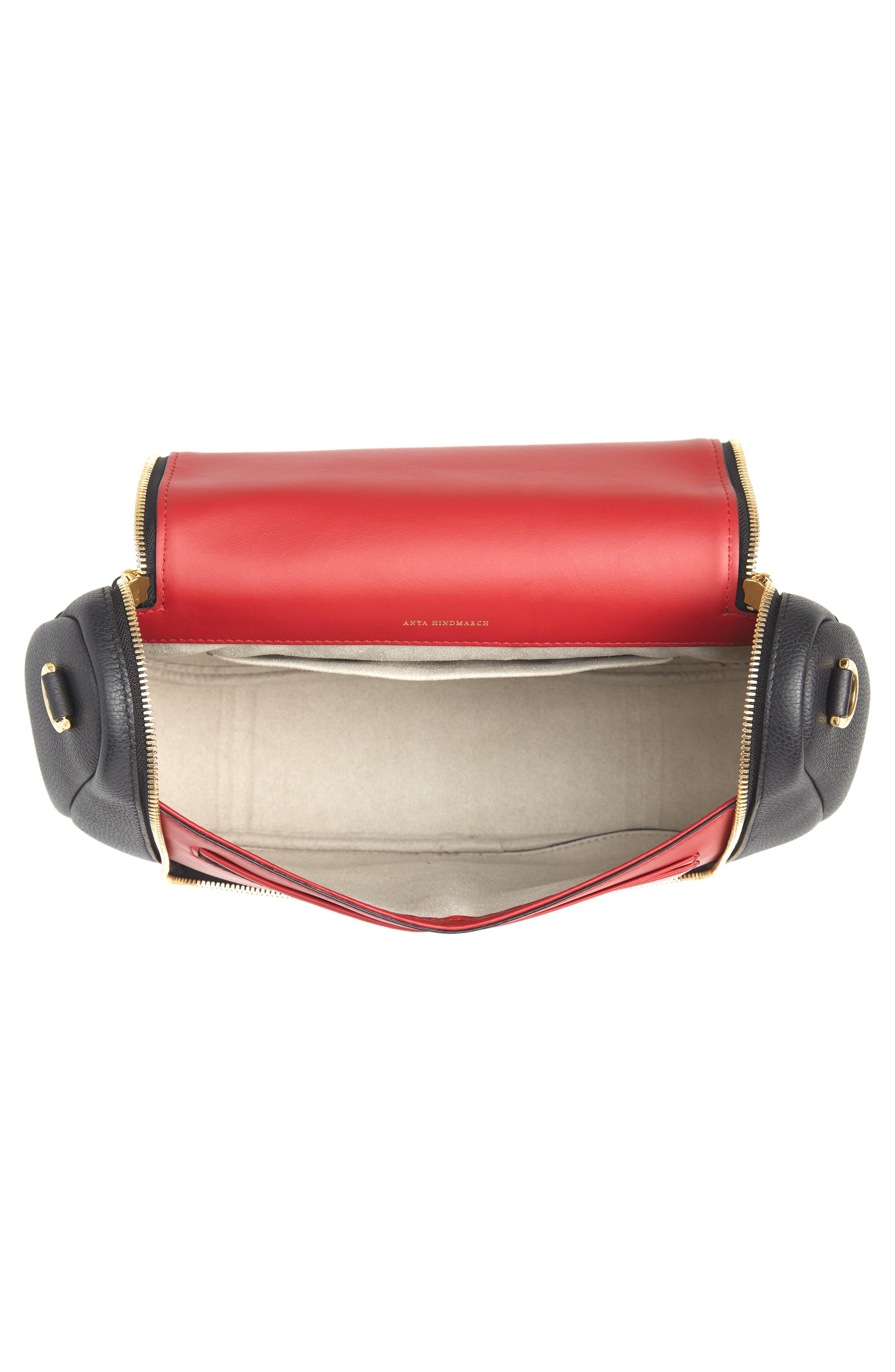 Maxi Vere Soft Satchel Shoulder Bag,                             Alternate thumbnail 5, color,                             BLACK