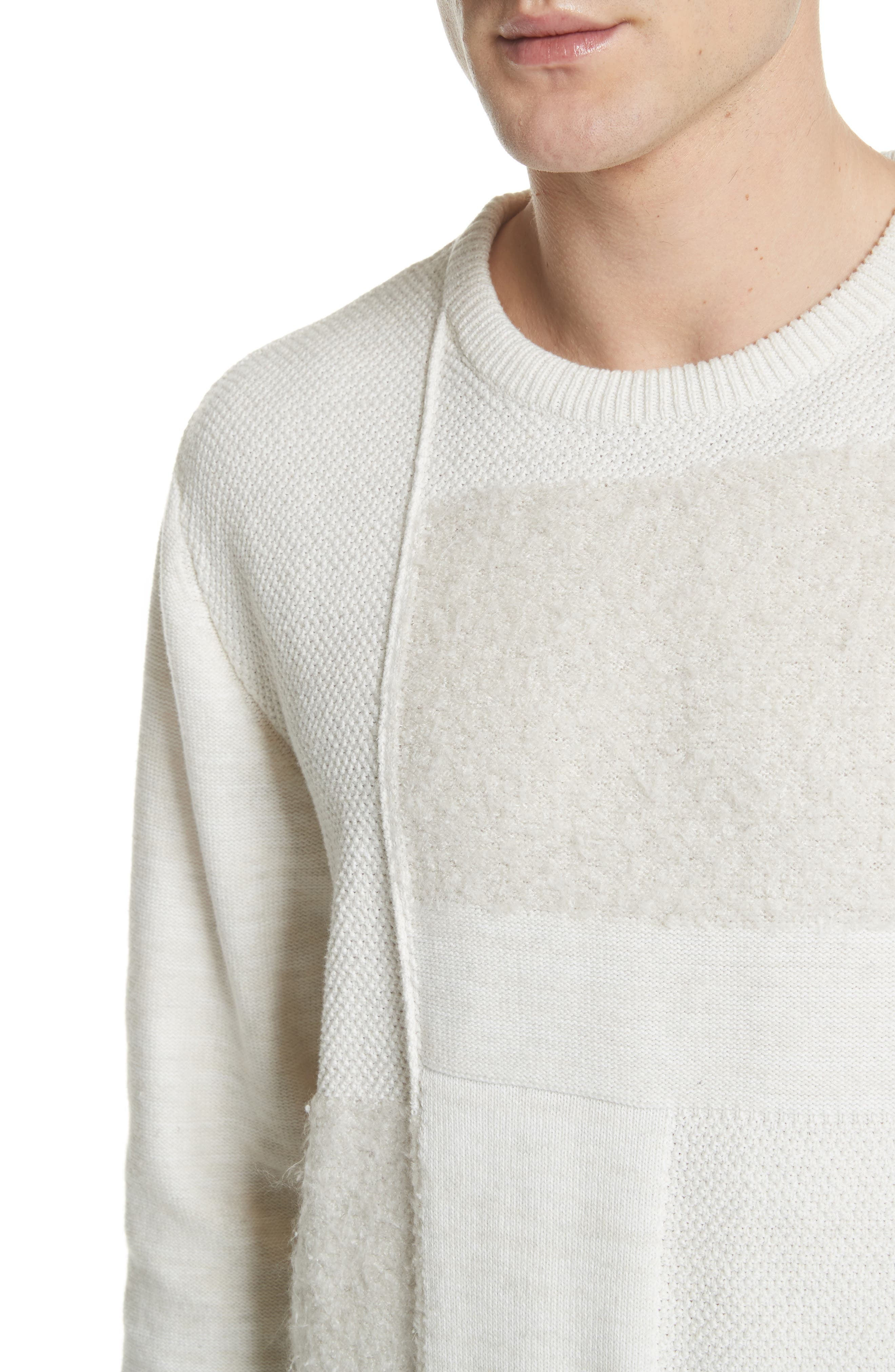 Oversized Silk Sweater,                             Alternate thumbnail 4, color,                             101