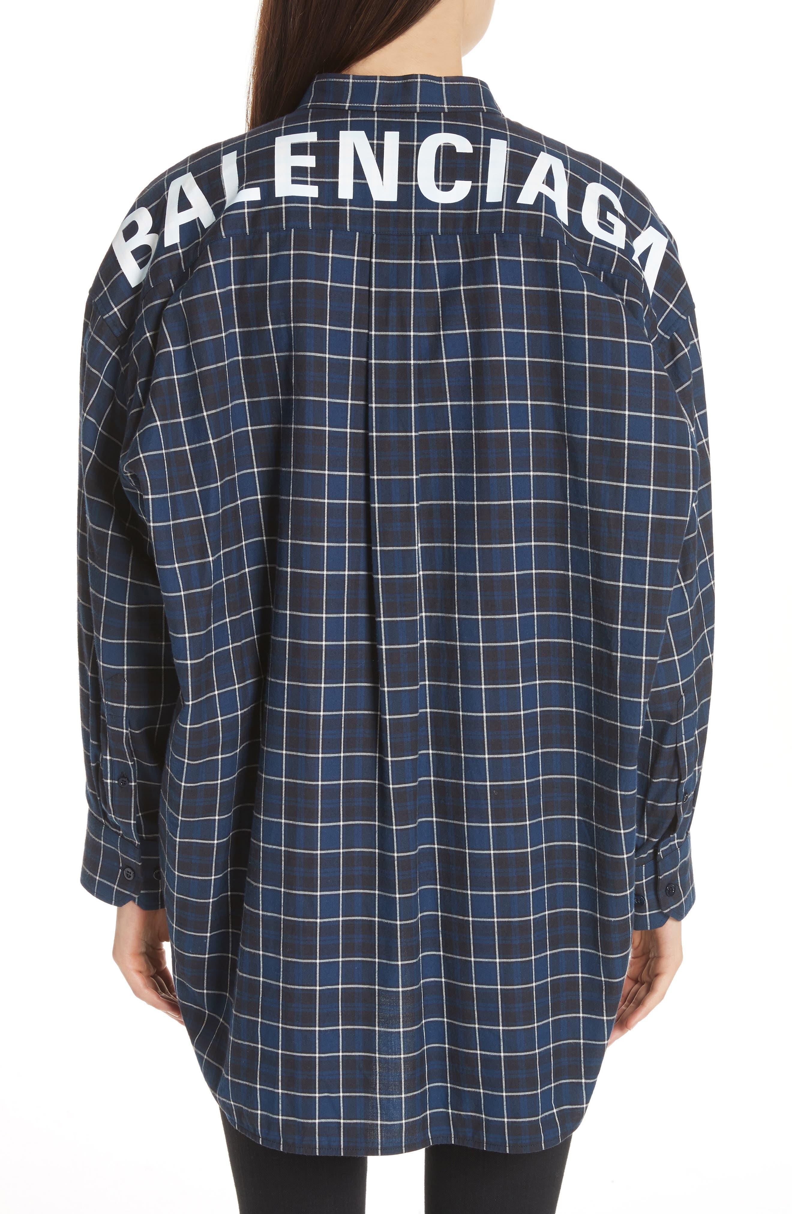 Back Logo Flannel Shirt,                             Alternate thumbnail 2, color,                             406