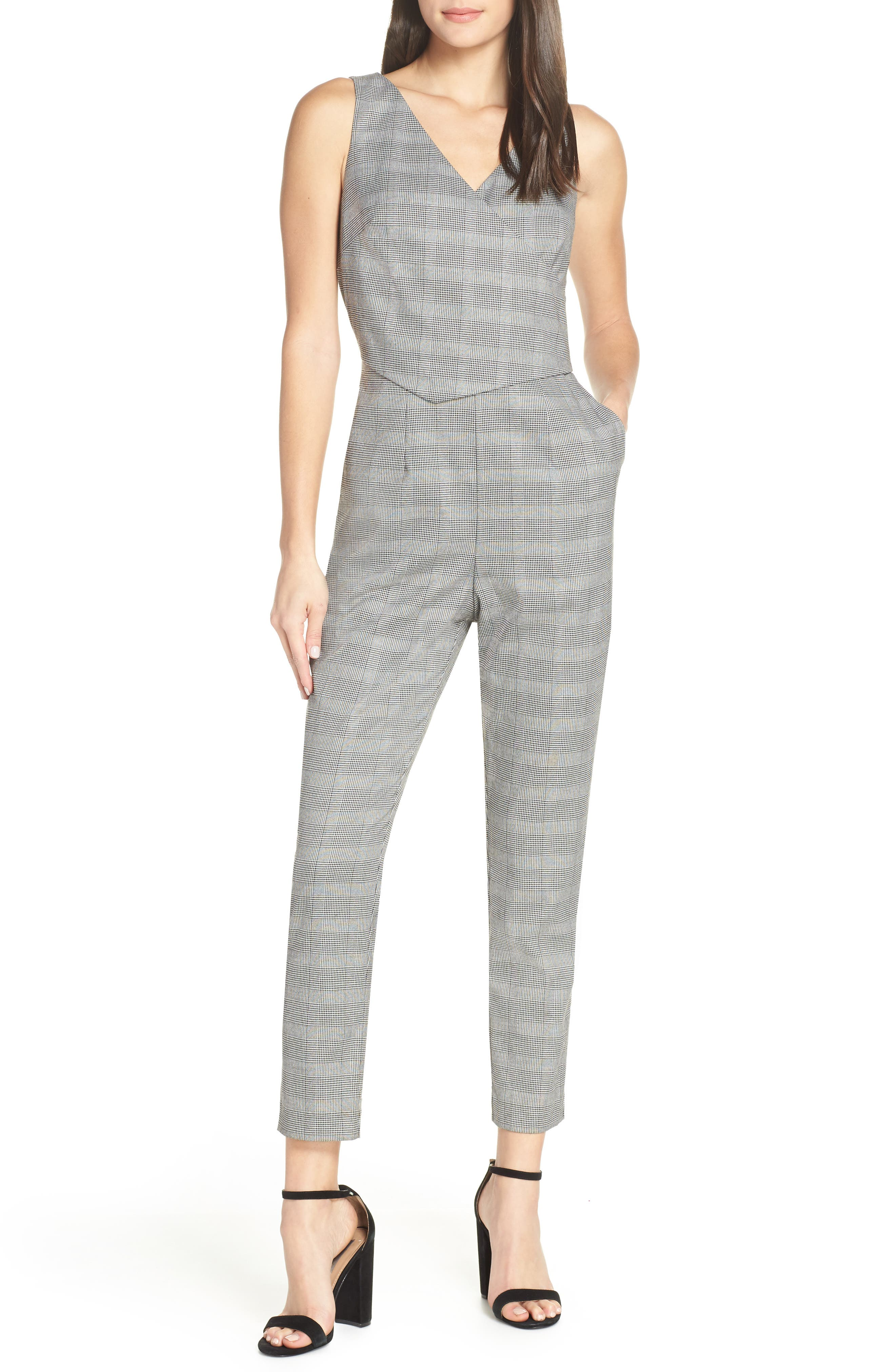 Serious Business Jumpsuit in Plaid