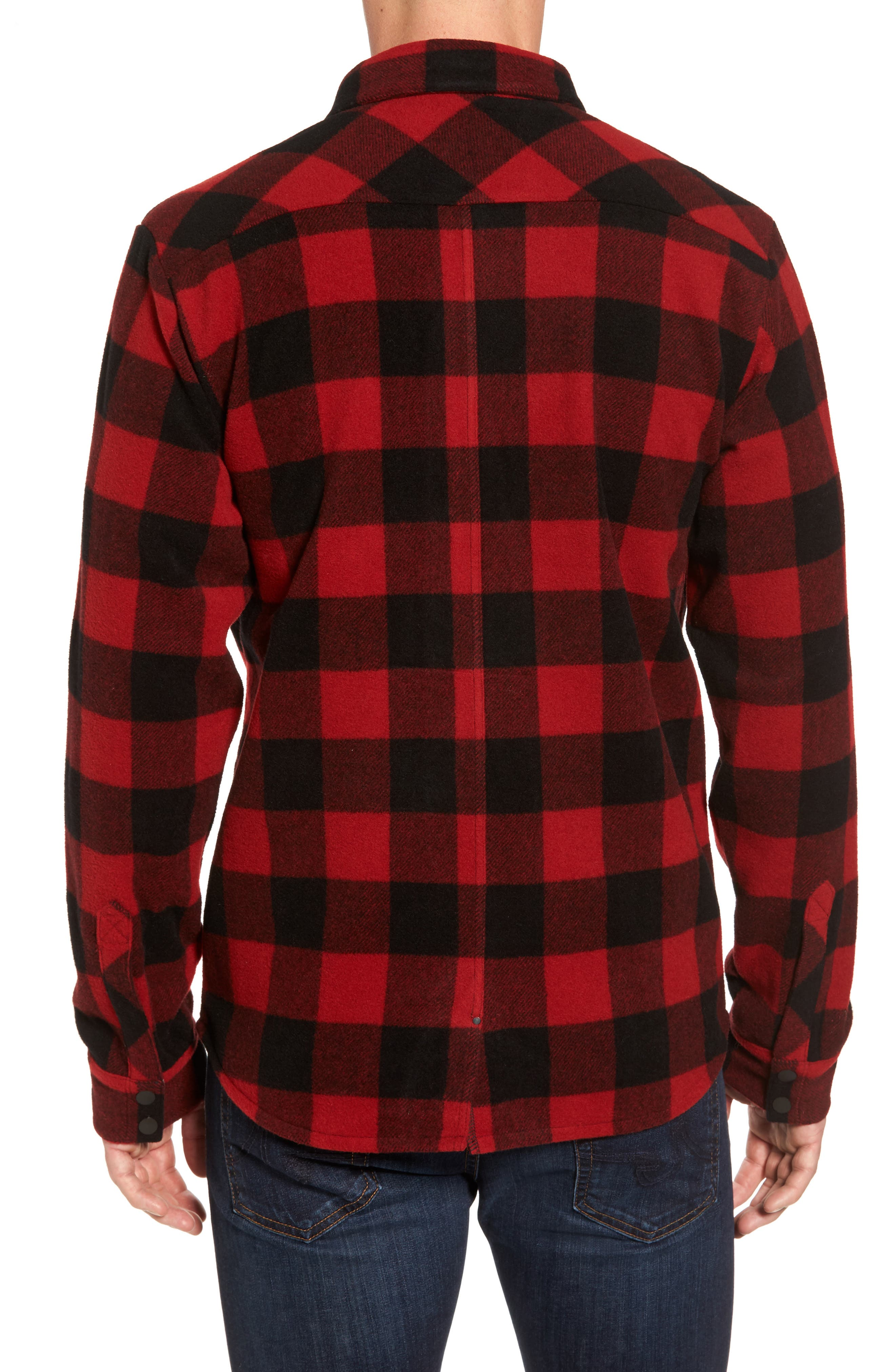 Anchor Line Flannel Shirt Jacket,                             Alternate thumbnail 4, color,