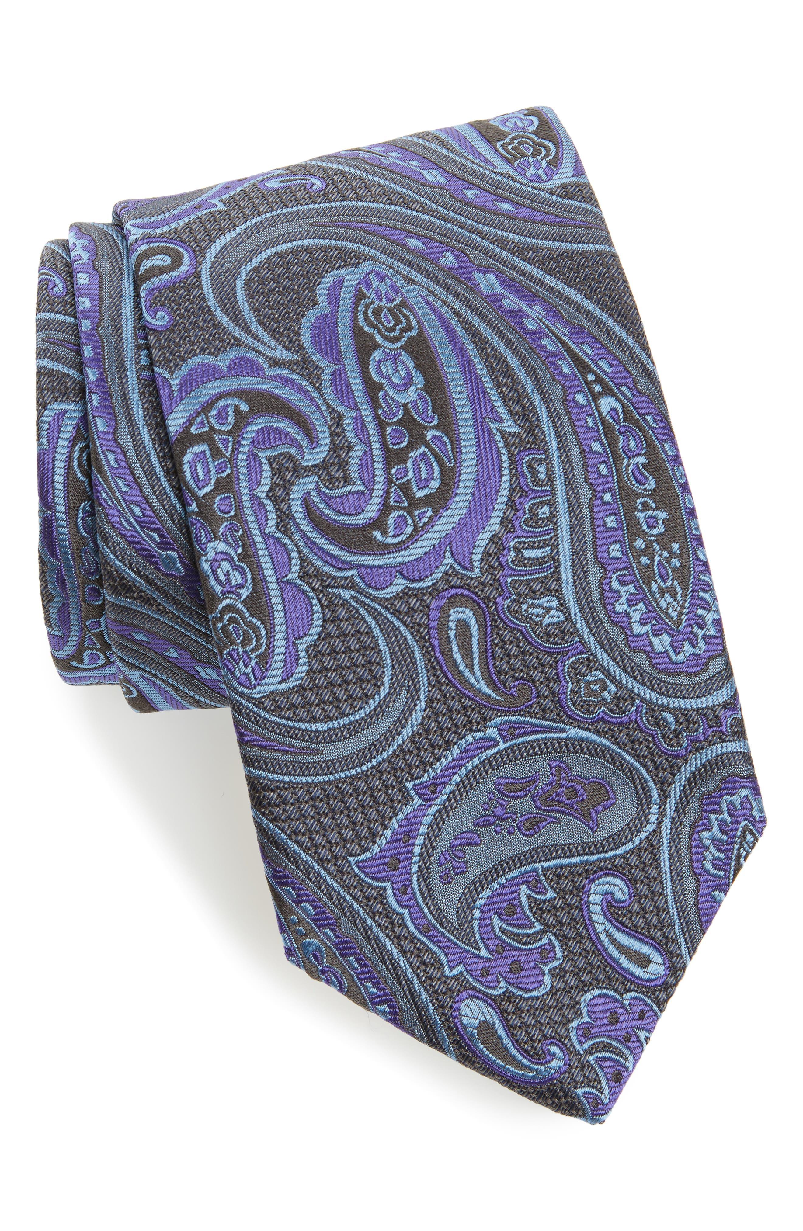 Paisley Silk Tie,                             Main thumbnail 1, color,                             020