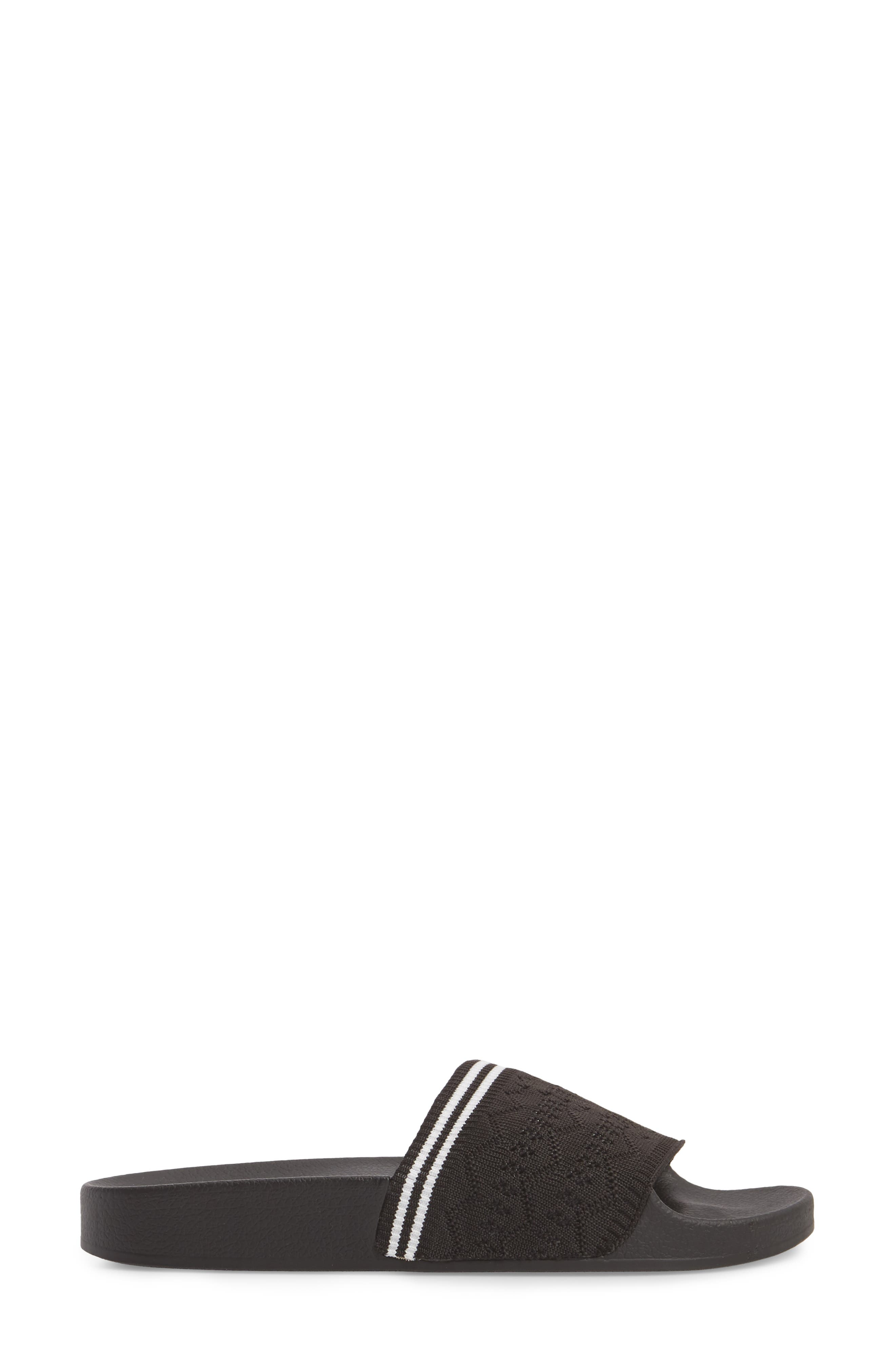 Vibe Sock Knit Slide Sandal,                             Alternate thumbnail 3, color,                             001