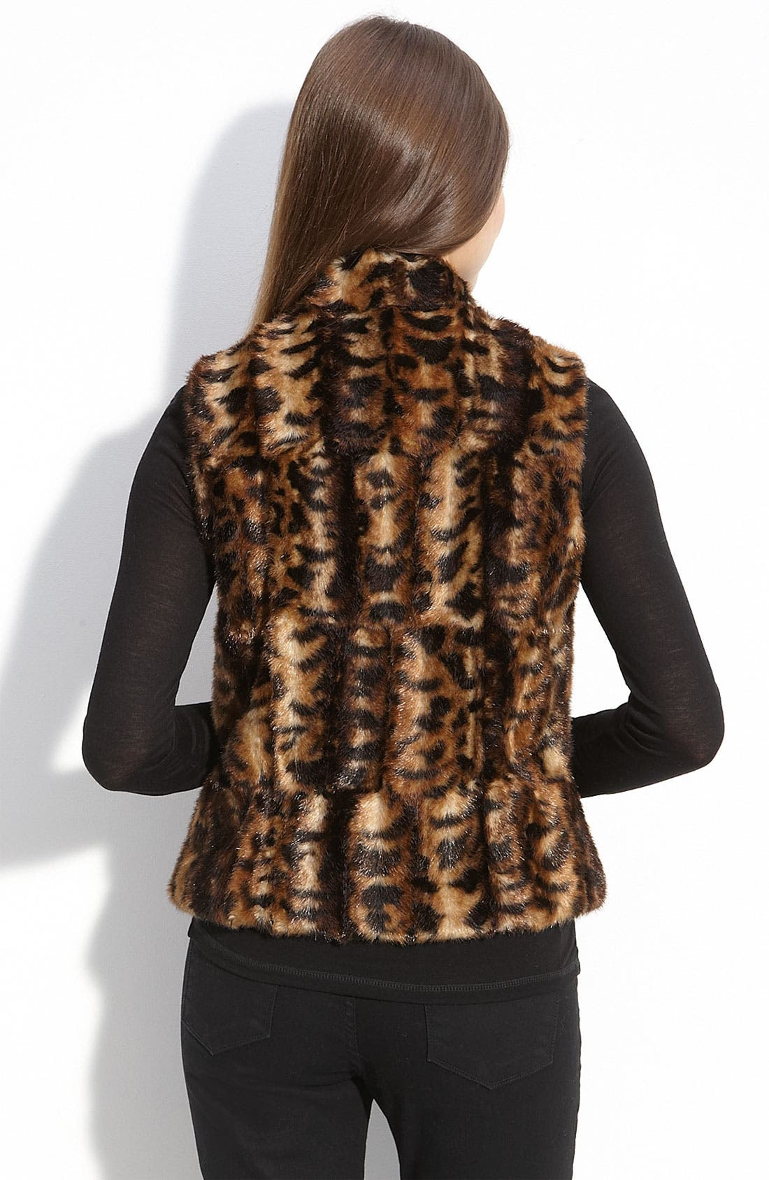CALVIN KLEIN,                             Faux Fur Vest,                             Alternate thumbnail 2, color,                             200