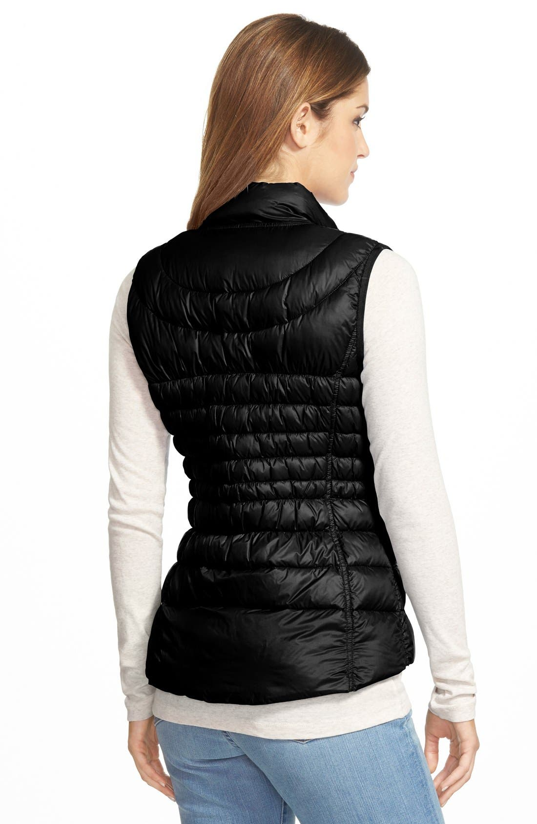 Packable Reversible Down & PrimaLoft<sup>®</sup> Vest,                             Alternate thumbnail 3, color,                             001