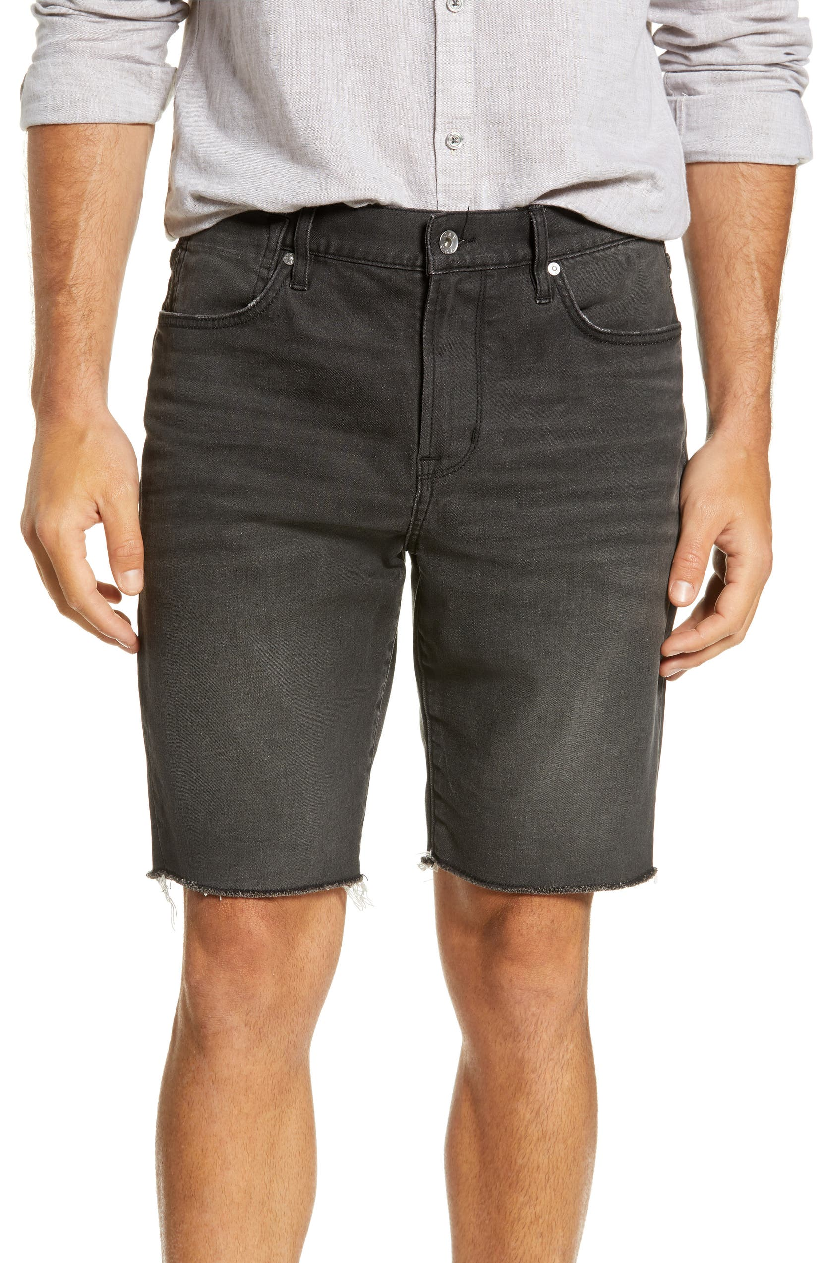 John Varvatos Star USA Bowery Slim Straight Jean Shorts (Black ... 13a29dc04347