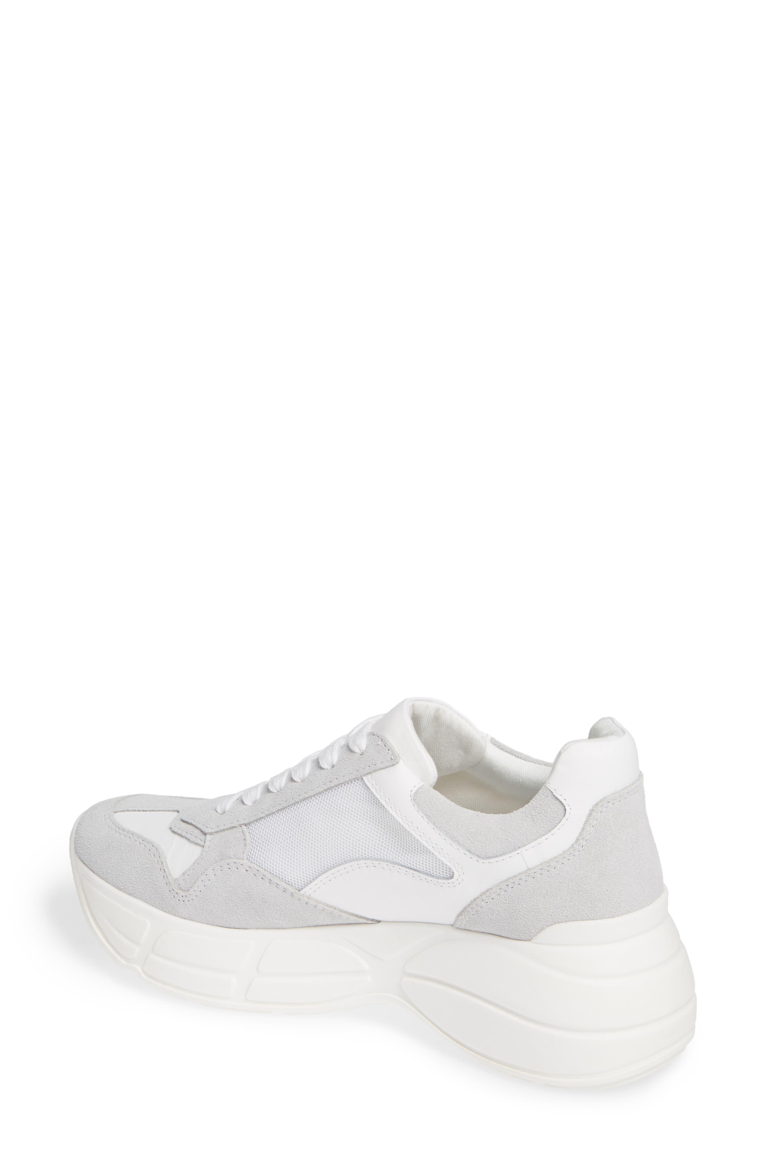 Memory Platform Wedge Sneaker,                             Alternate thumbnail 2, color,                             WHITE MULTI