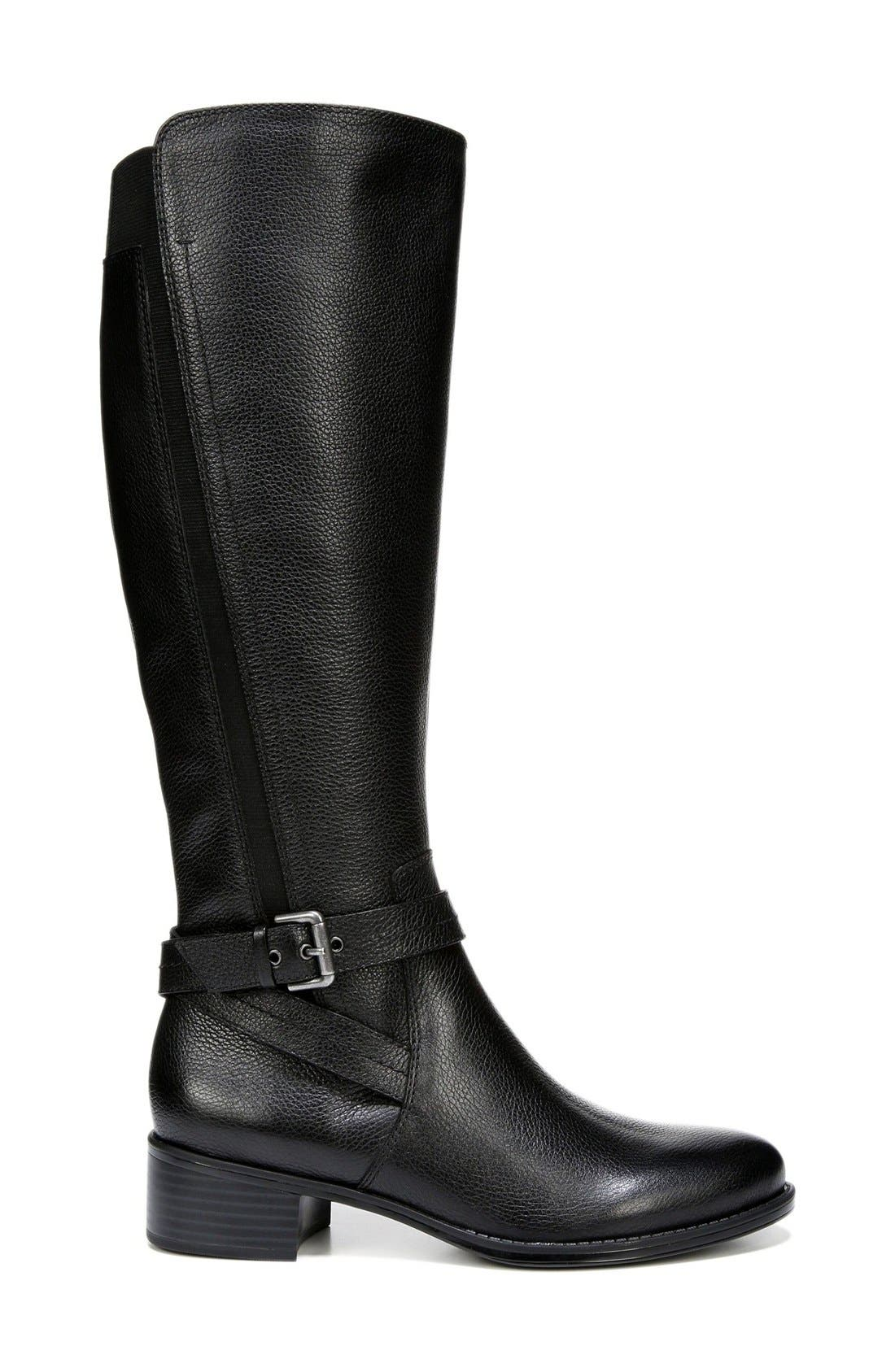 'Wynnie' Riding Boot,                             Alternate thumbnail 6, color,                             001