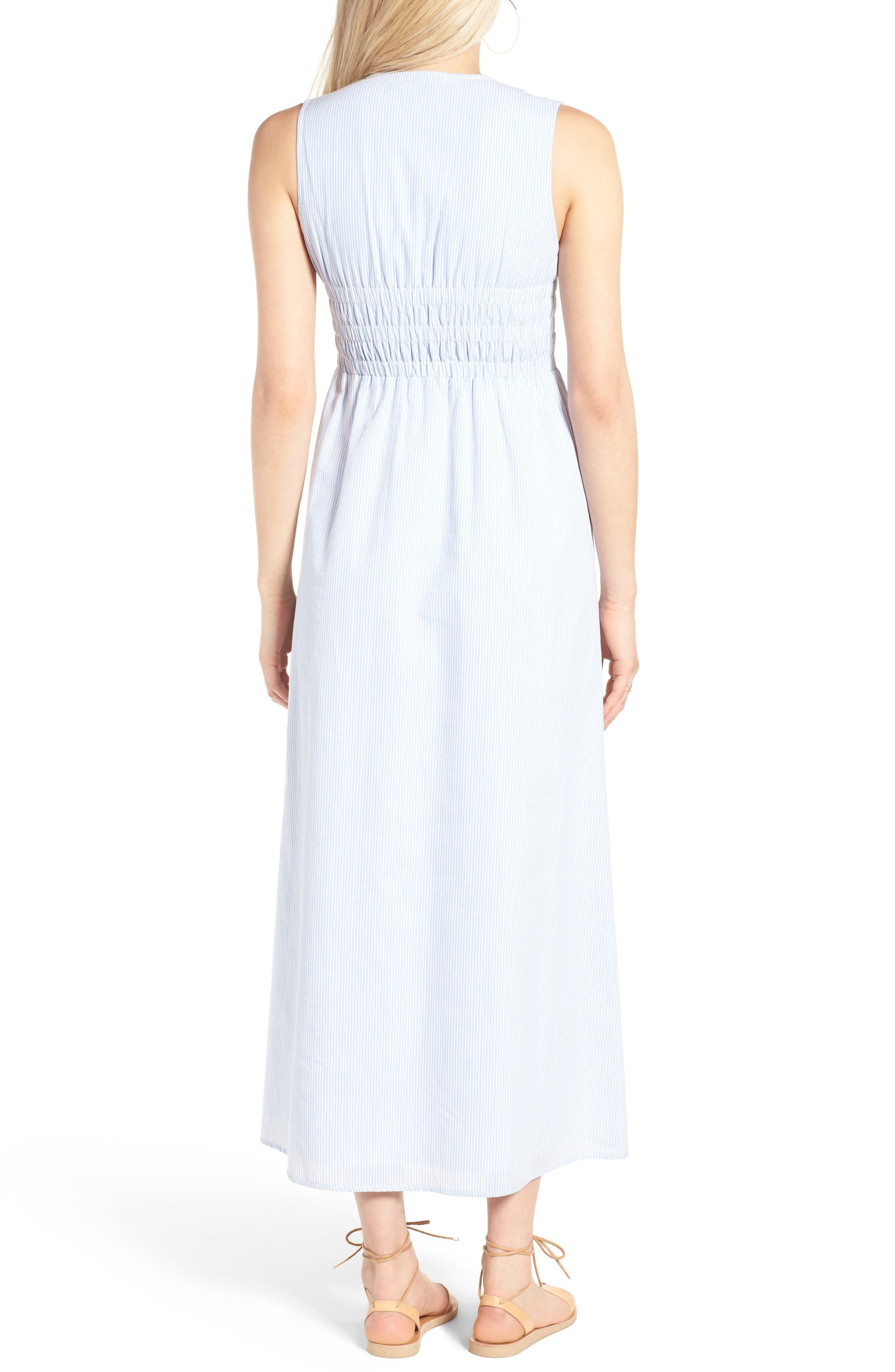 Stripe Lace-Up Maxi Dress,                             Alternate thumbnail 2, color,                             400