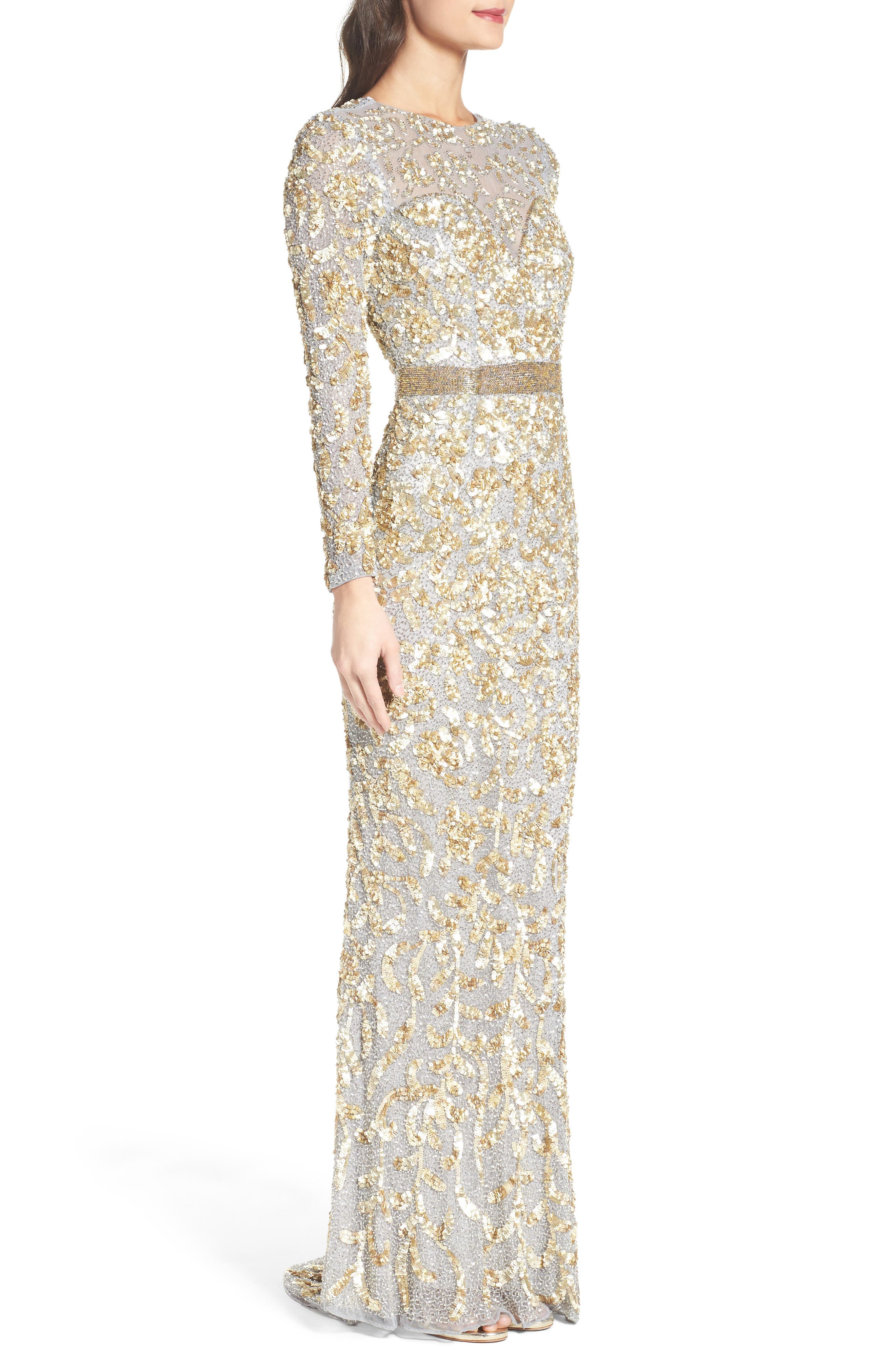 Beaded Gown,                             Alternate thumbnail 6, color,