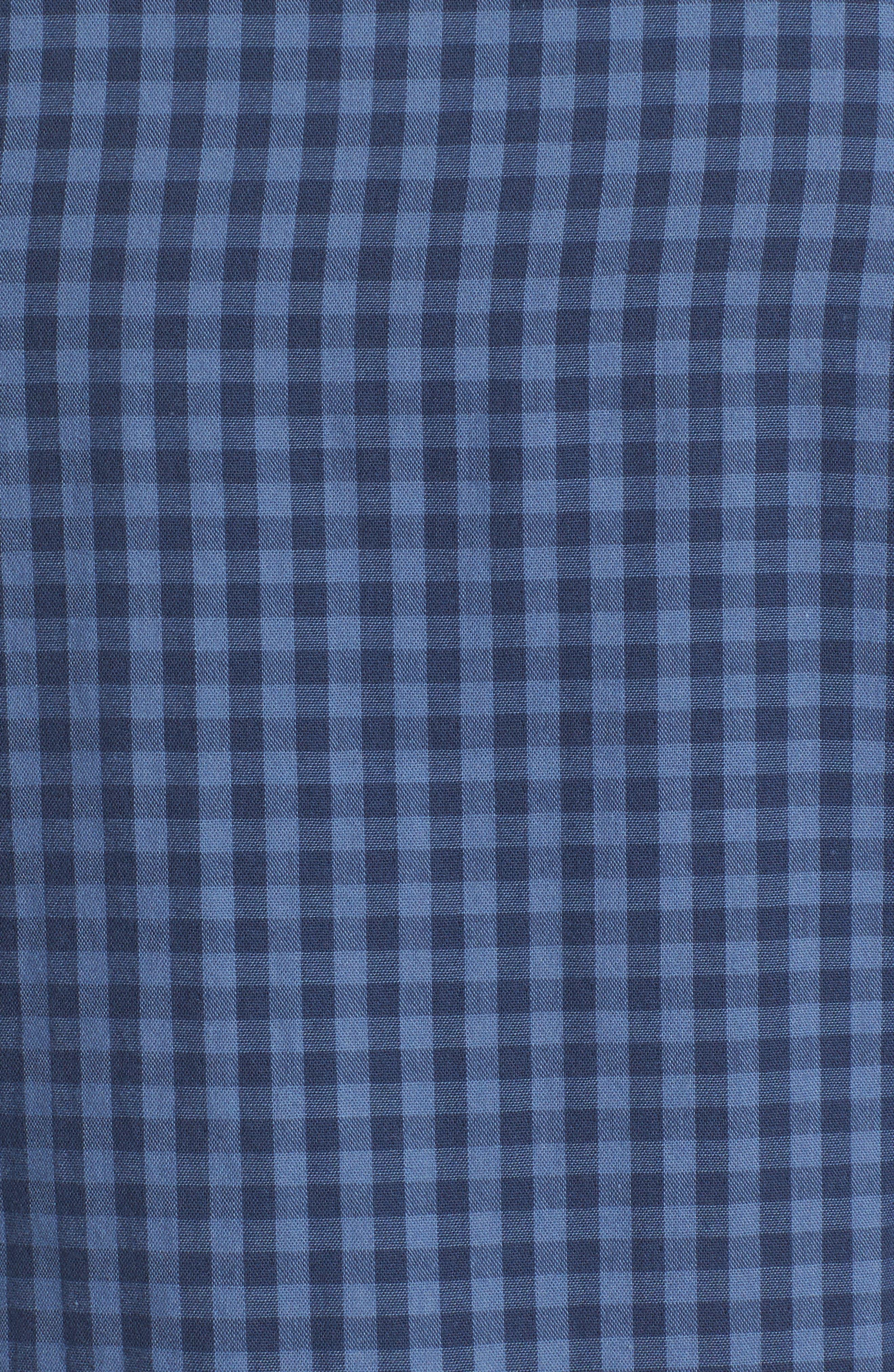 Trim Fit Duofold Check Sport Shirt,                             Alternate thumbnail 5, color,                             420
