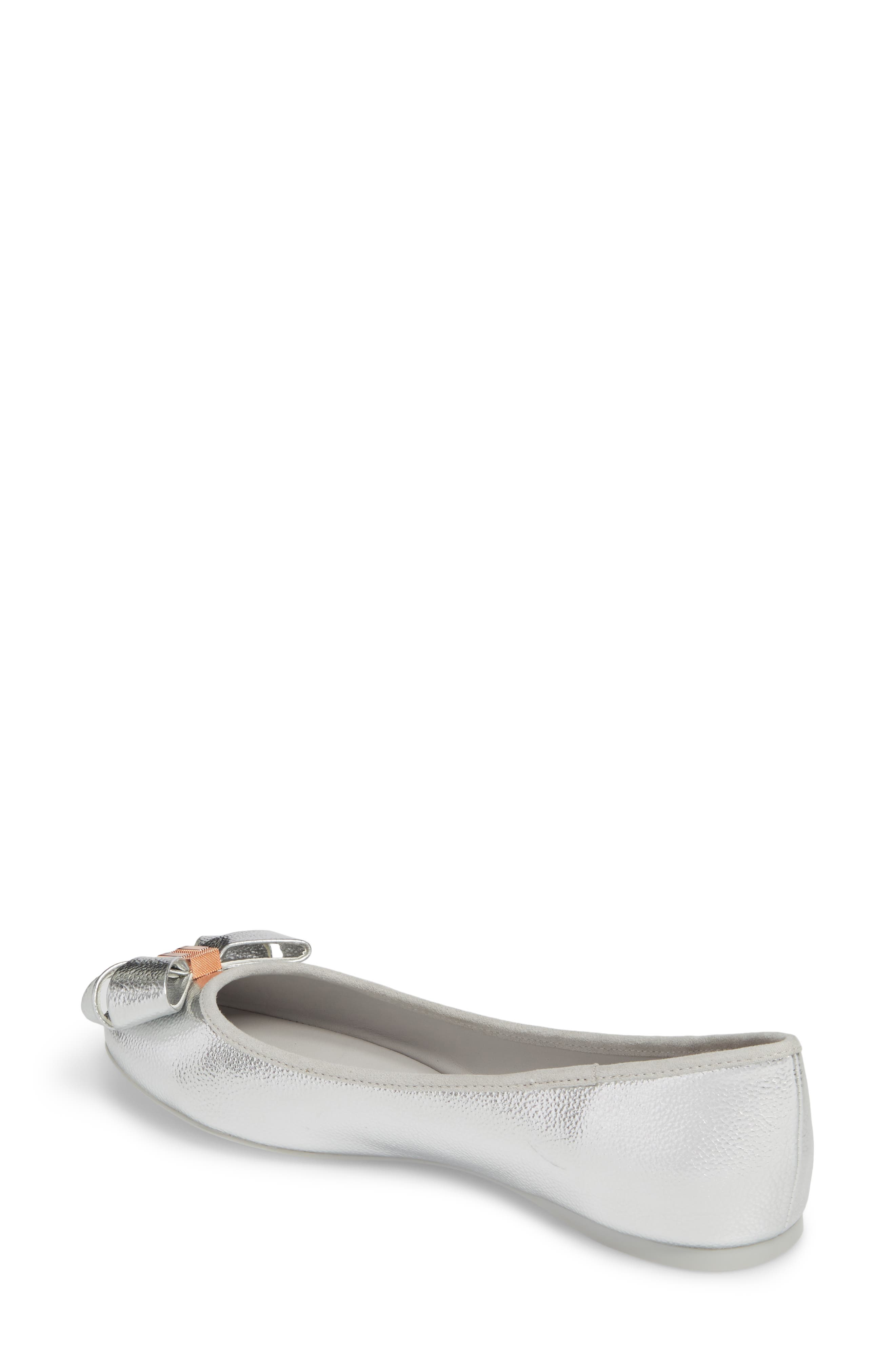Immet Ballet Flat,                             Alternate thumbnail 2, color,                             SILVER