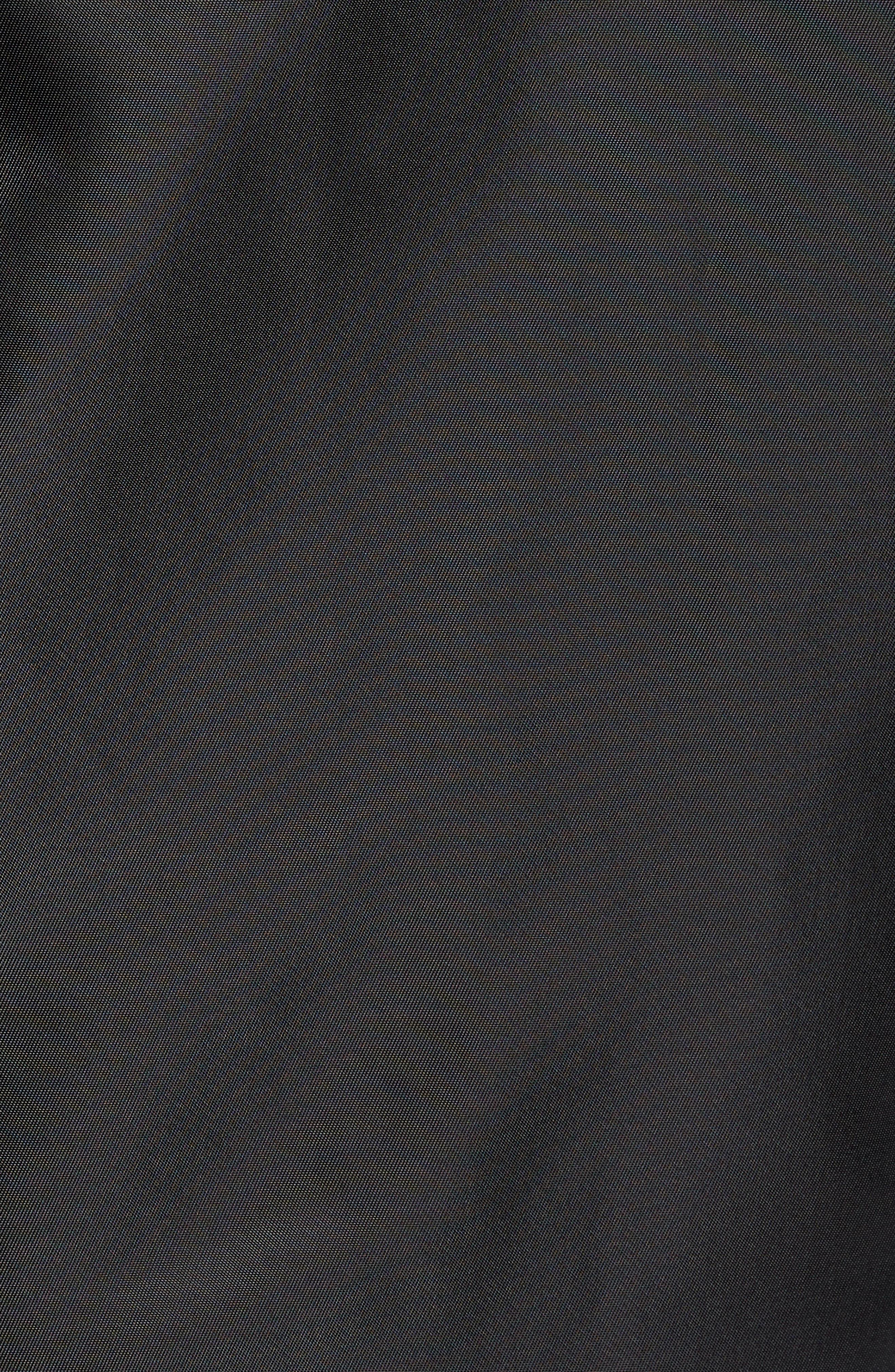 Fight Night Trim Fit Stadium Jacket,                             Alternate thumbnail 6, color,                             BLACK