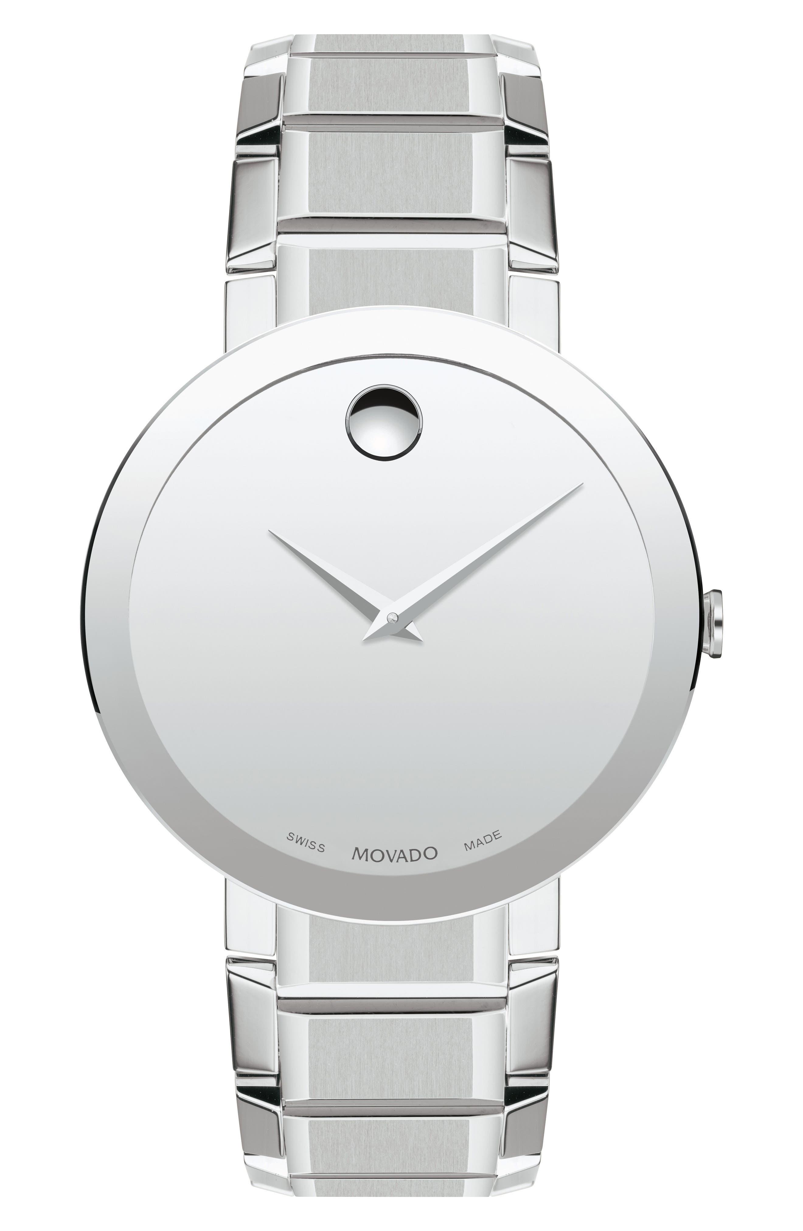 Sapphire Bracelet Watch, 39mm,                             Main thumbnail 1, color,                             SILVER