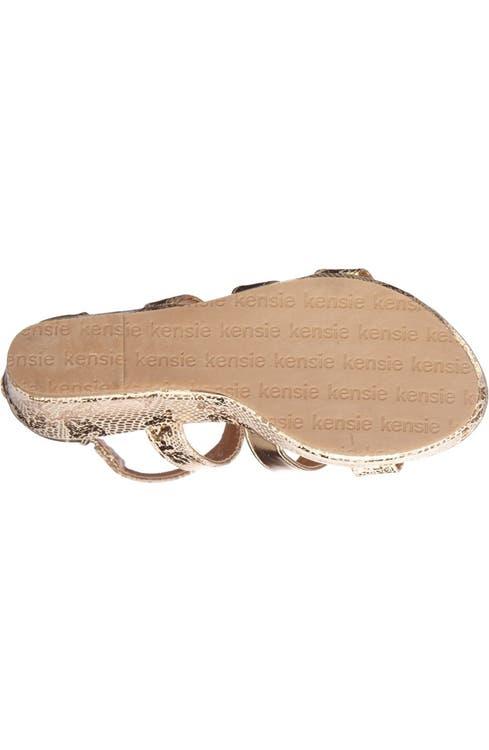 8c127992502 kensie girl Snake Embossed Wedge Sandal (Toddler