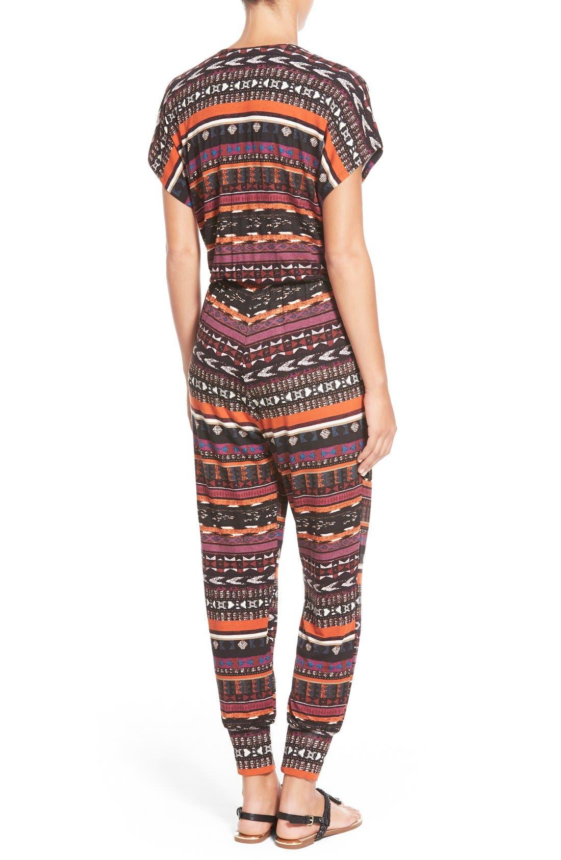 Short Sleeve Wrap Top Jumpsuit,                             Alternate thumbnail 15, color,