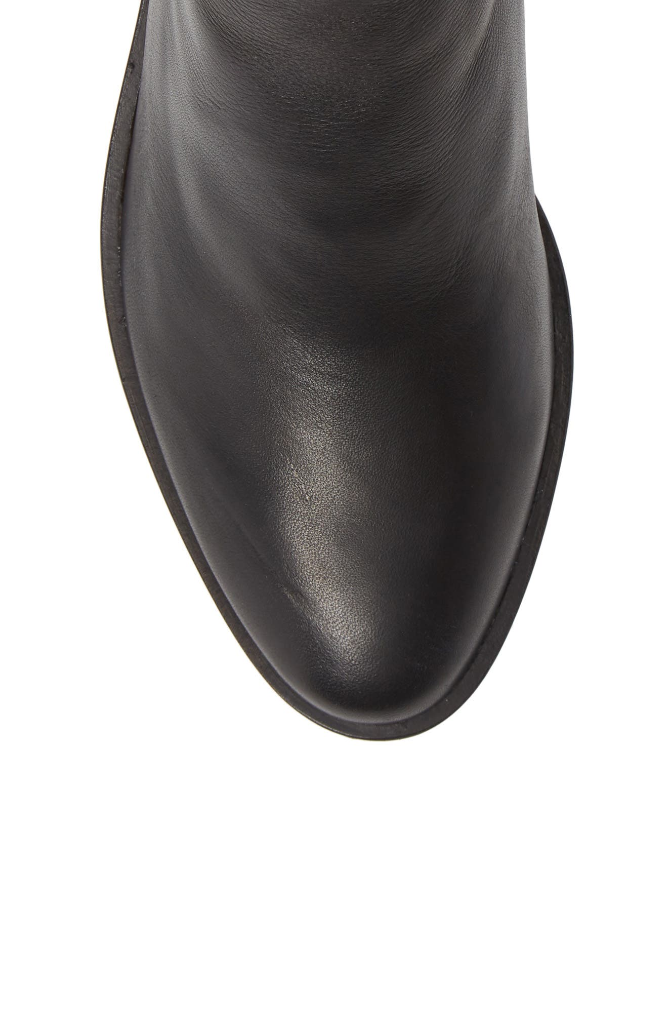 Tucker Bootie,                             Alternate thumbnail 5, color,                             BLACK LEATHER