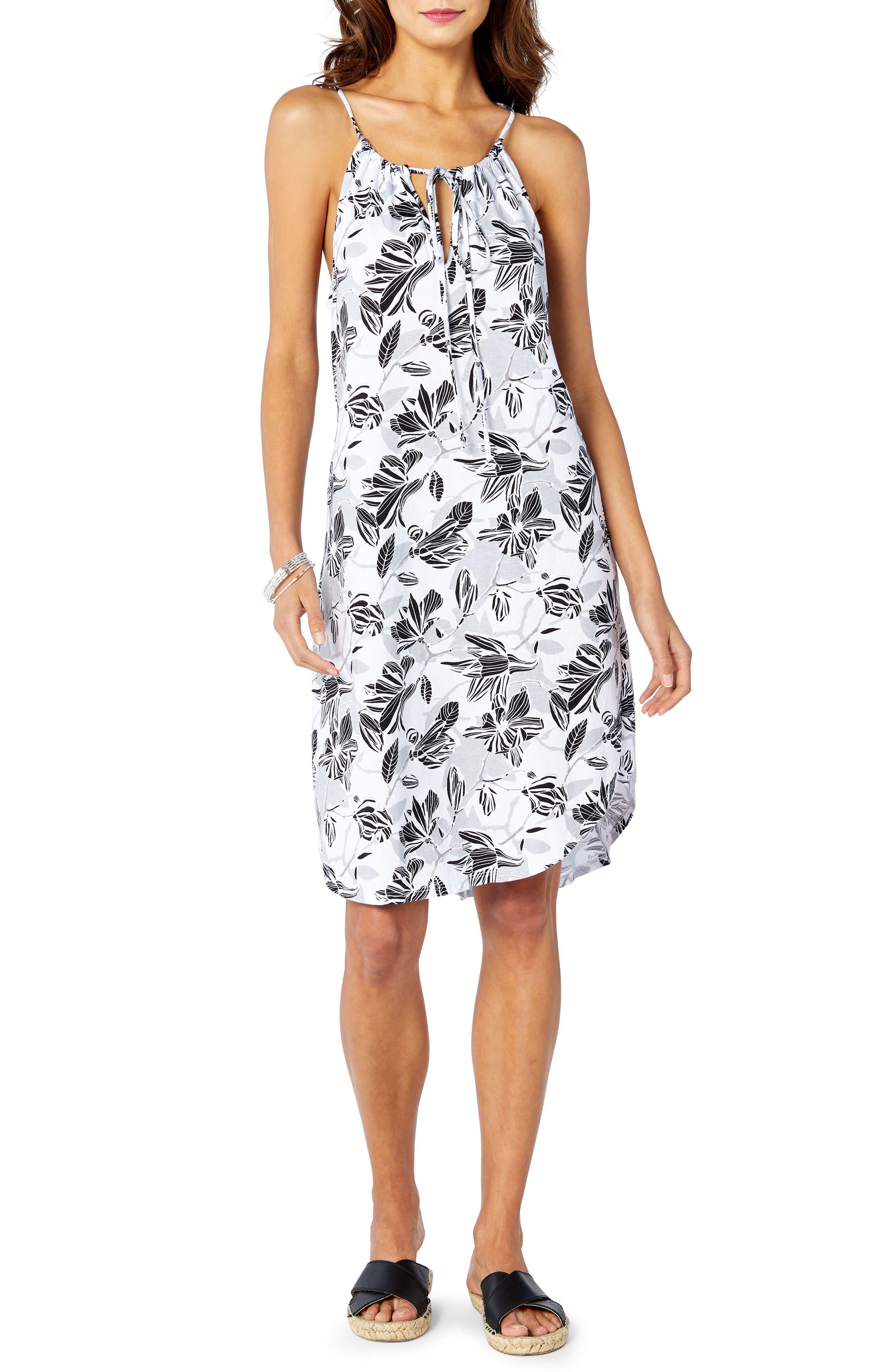 Floral Sun Dress,                             Alternate thumbnail 3, color,                             100