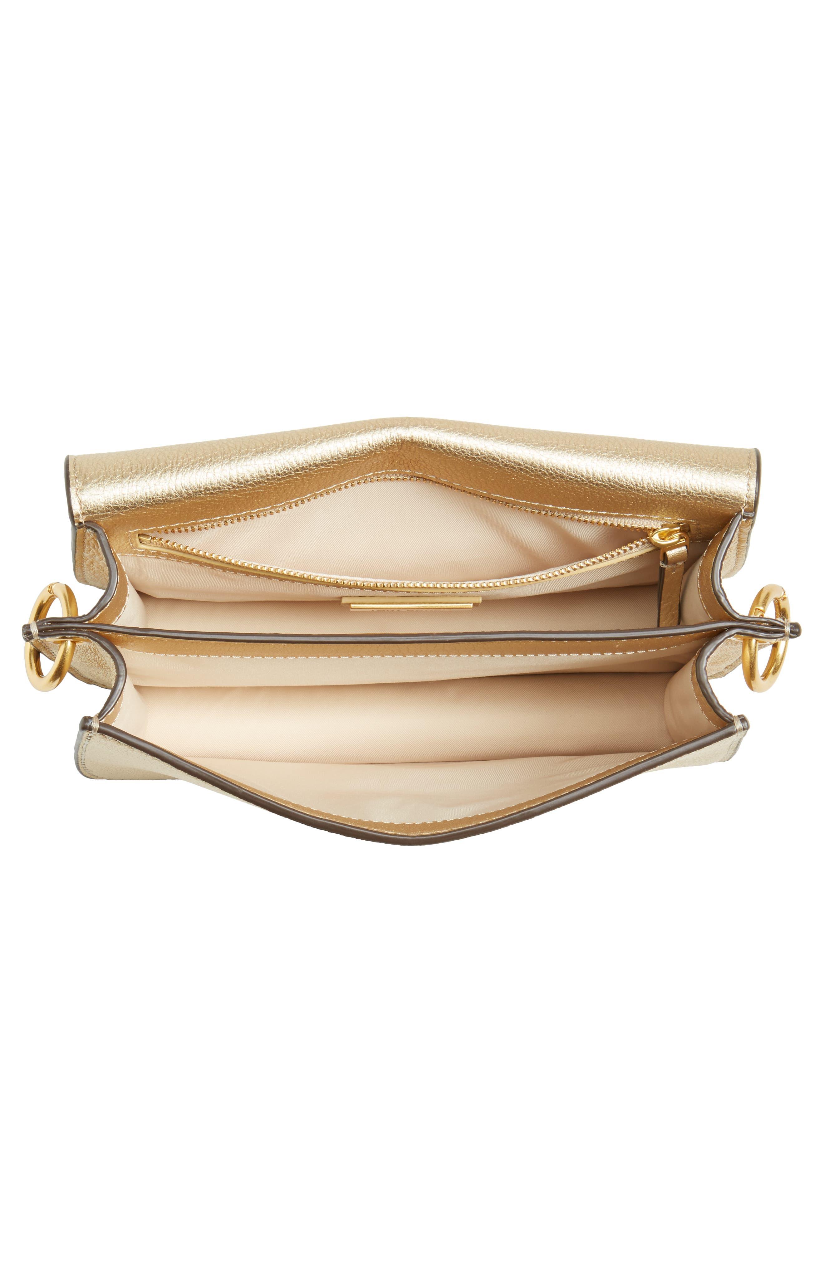 McGraw Metallic Leather Shoulder Bag,                             Alternate thumbnail 4, color,