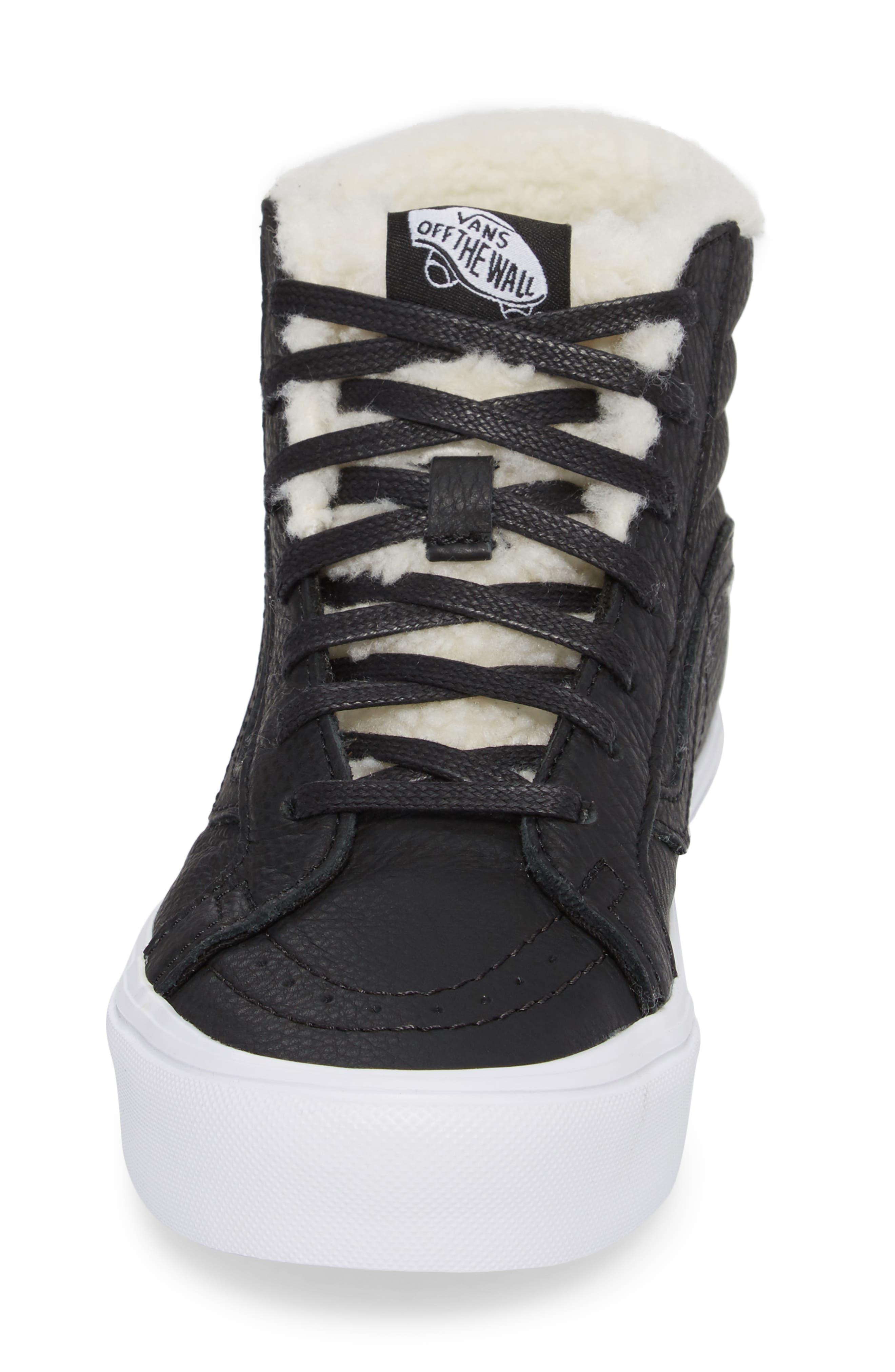 Sk8-Hi Reissue Lite High Top Sneaker,                             Alternate thumbnail 4, color,                             001