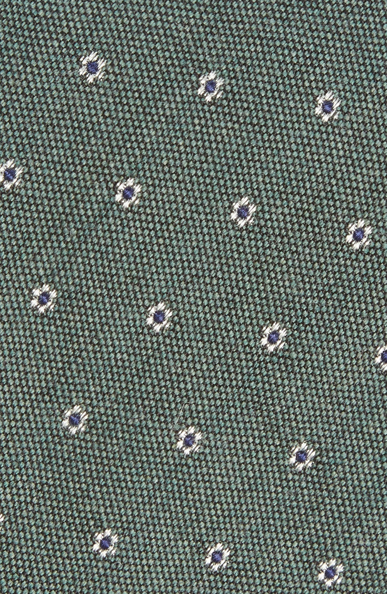 Heather Floral Silk & Wool Tie,                             Alternate thumbnail 8, color,