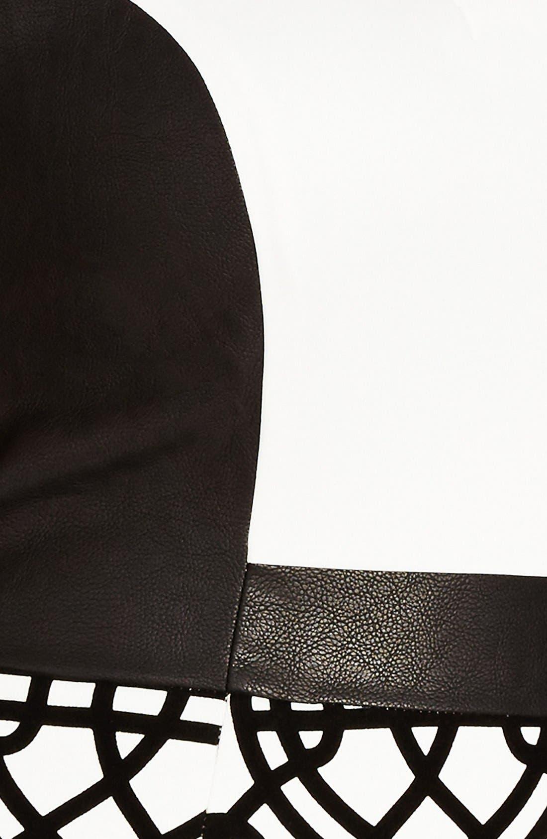 'Art Deco' Print Block Sheath Dress,                             Alternate thumbnail 2, color,                             909