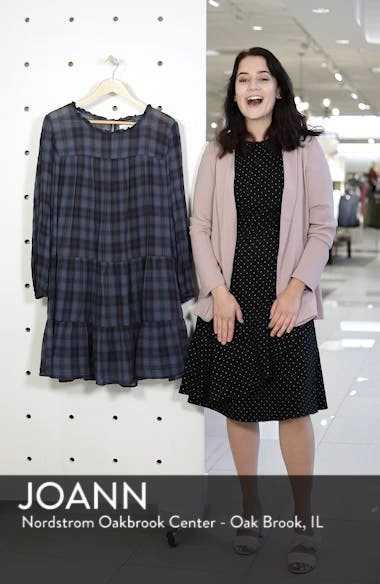 Soft Tiered Plaid Cotton Shift Dress, sales video thumbnail