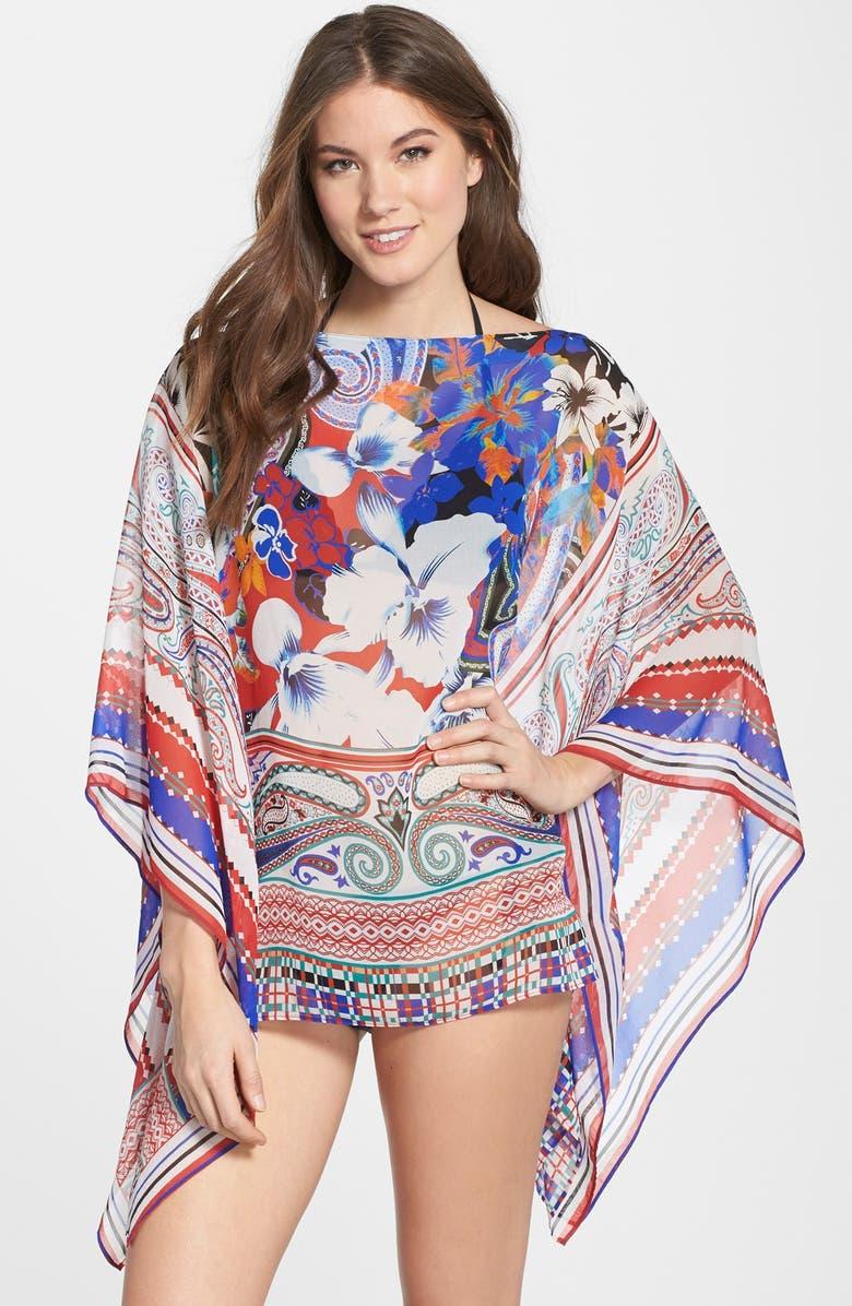 91fd8c6e117 Etro  Hawaiian Floral  Silk Chiffon Poncho