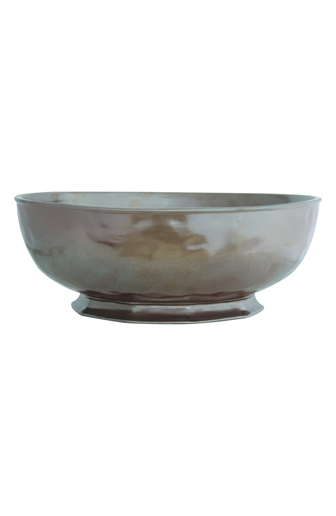 Pewter Stoneware Serving Bowl,                             Main thumbnail 1, color,                             PEWTER