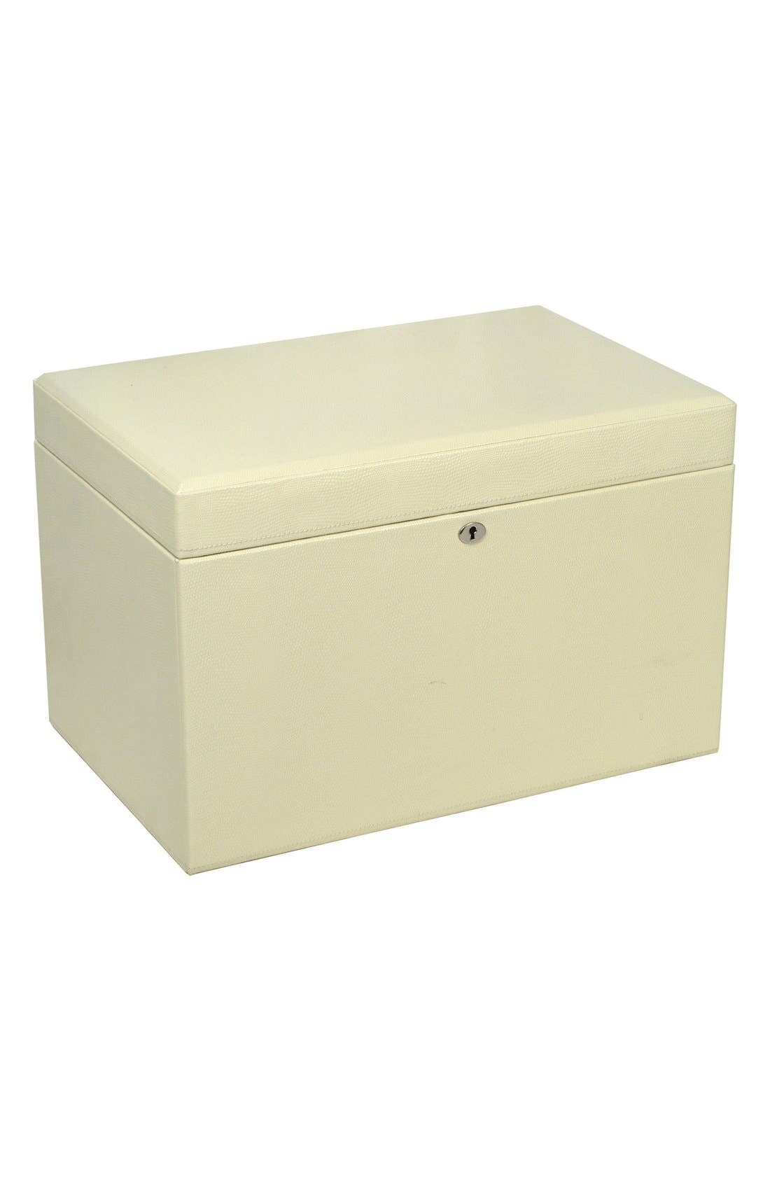 London Large Jewelry Box,                             Alternate thumbnail 4, color,                             CREAM