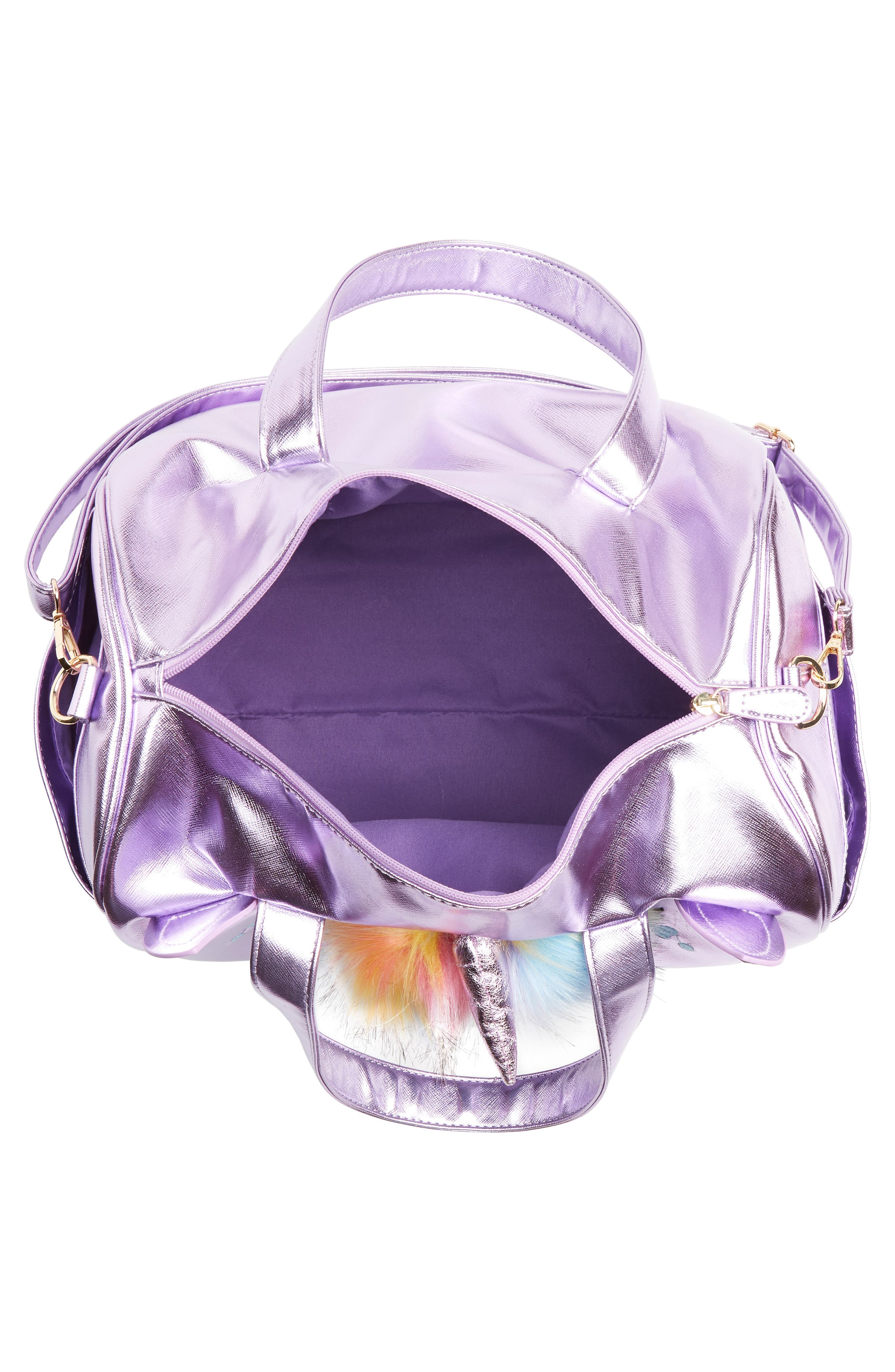 Duffel Bag,                             Alternate thumbnail 3, color,                             PURPLE