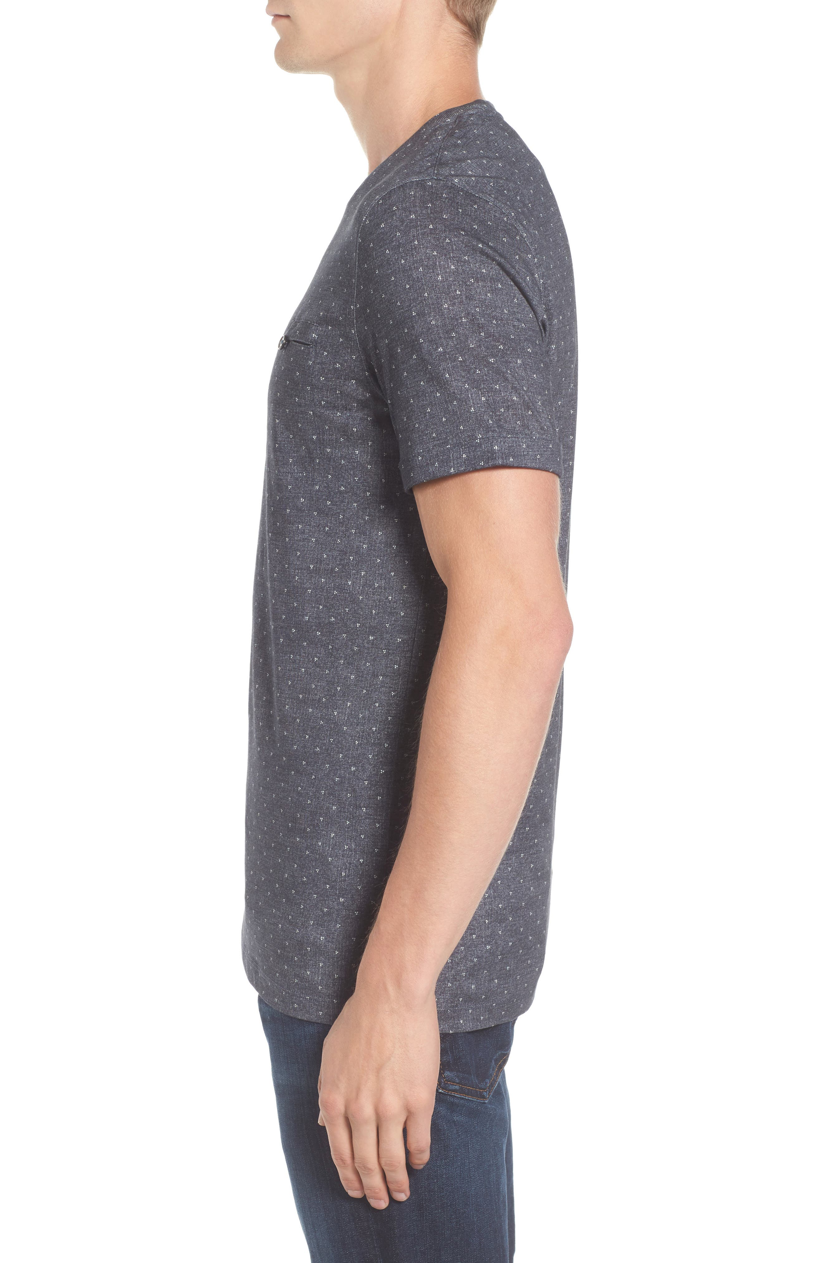 Giovani Modern Slim Fit Print T-Shirt,                             Alternate thumbnail 3, color,                             410