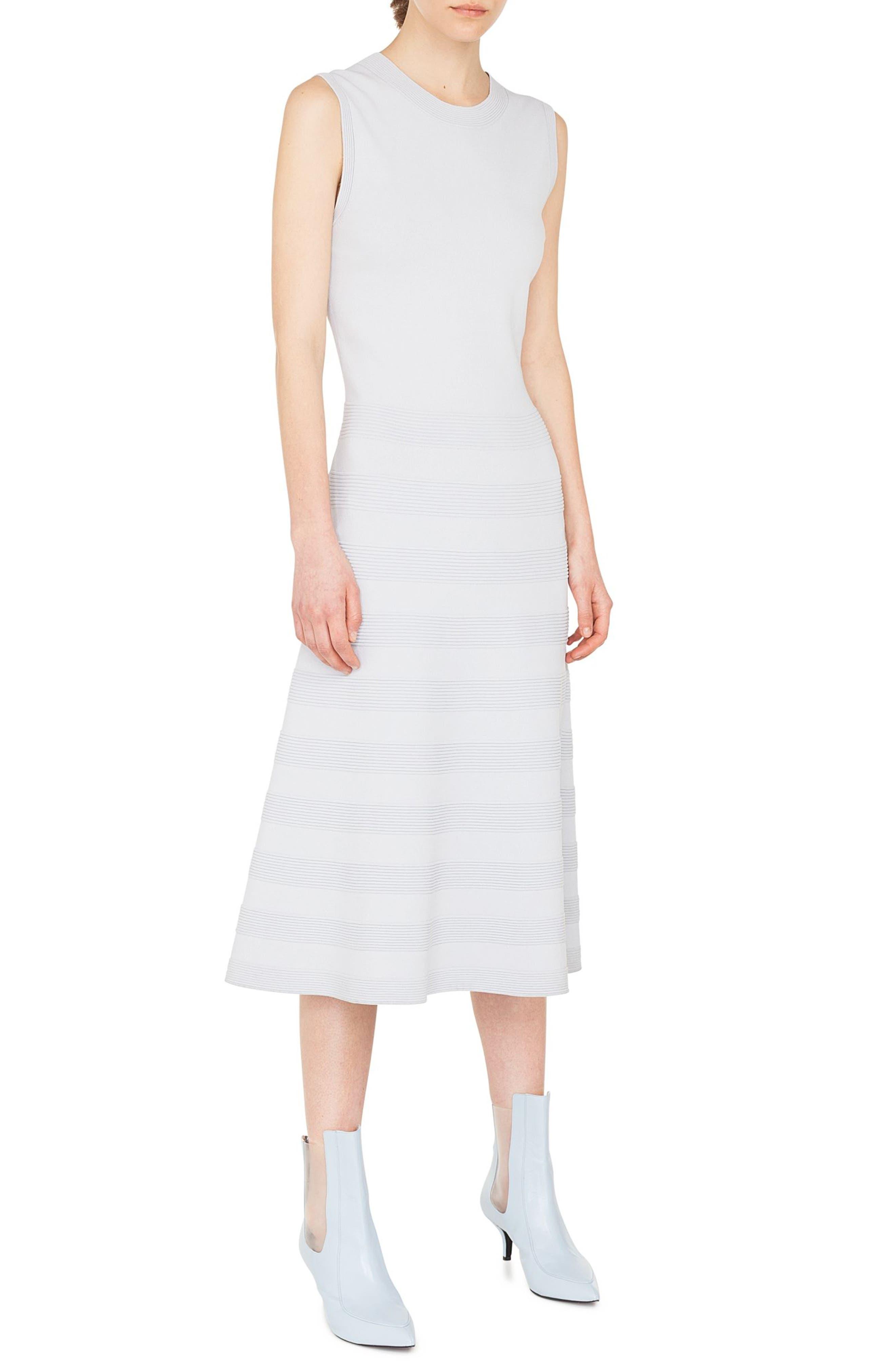 Rib Stripe Midi Dress,                             Main thumbnail 1, color,                             081