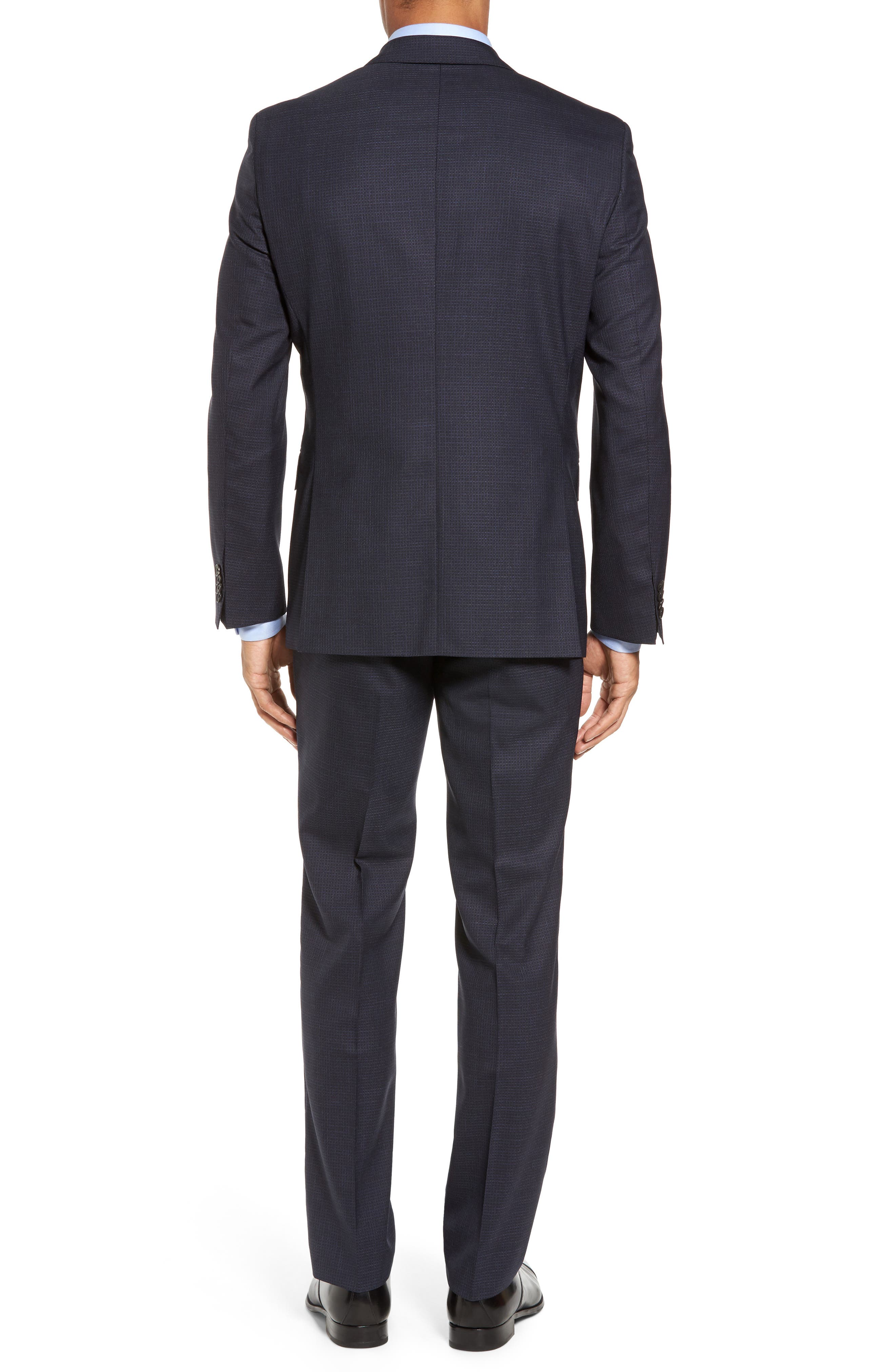Johnstons/Lenon Classic Fit Check Wool Suit,                             Alternate thumbnail 2, color,