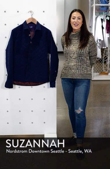 Trim Fit Quilted Shirt Jacket, sales video thumbnail