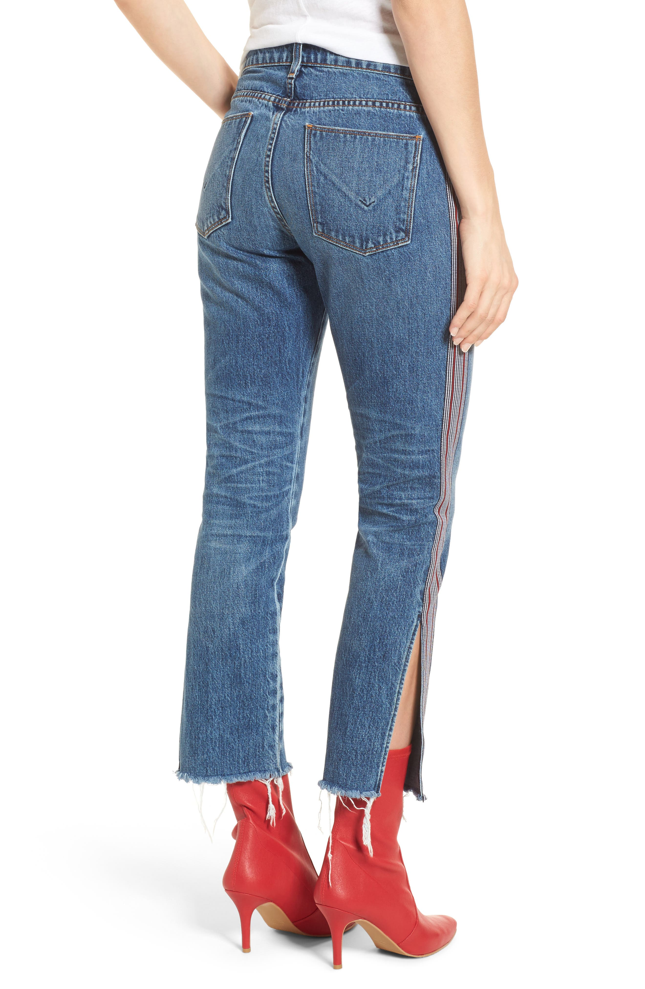 Riley Crop Straight Leg Jeans,                             Alternate thumbnail 2, color,                             424