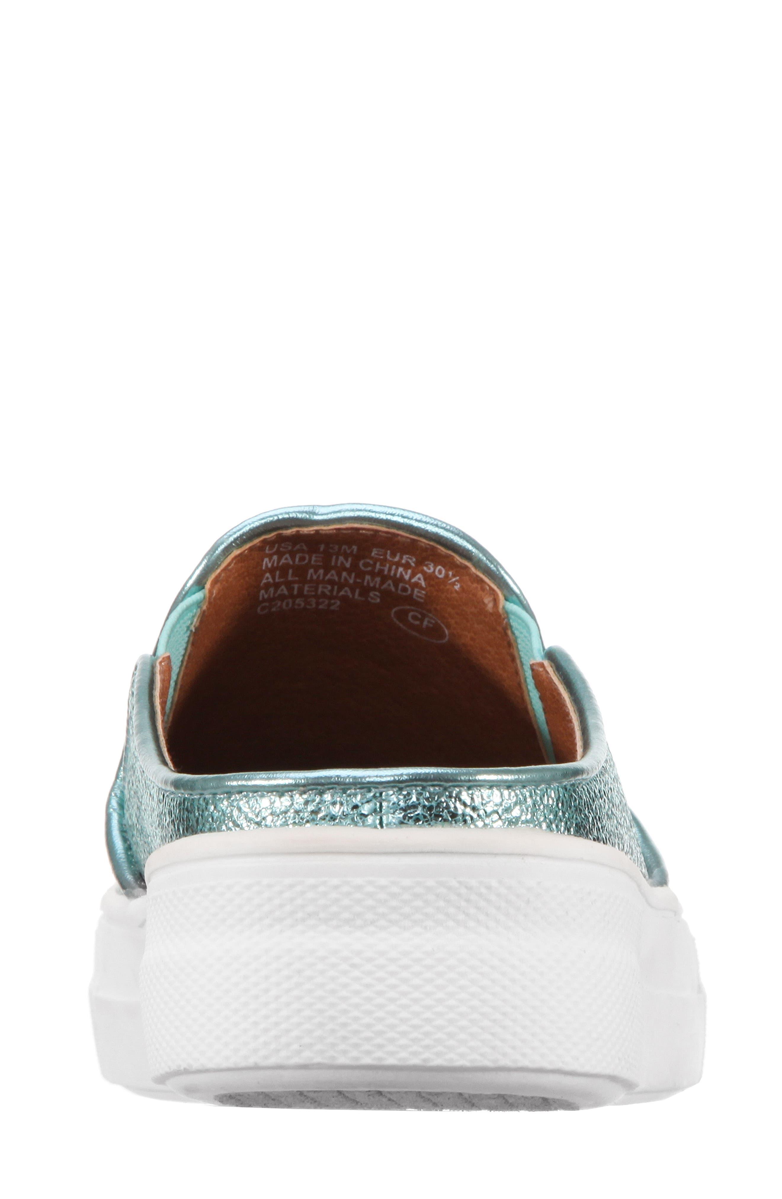 Gail Metallic Slip-On Sneaker Mule,                             Alternate thumbnail 5, color,