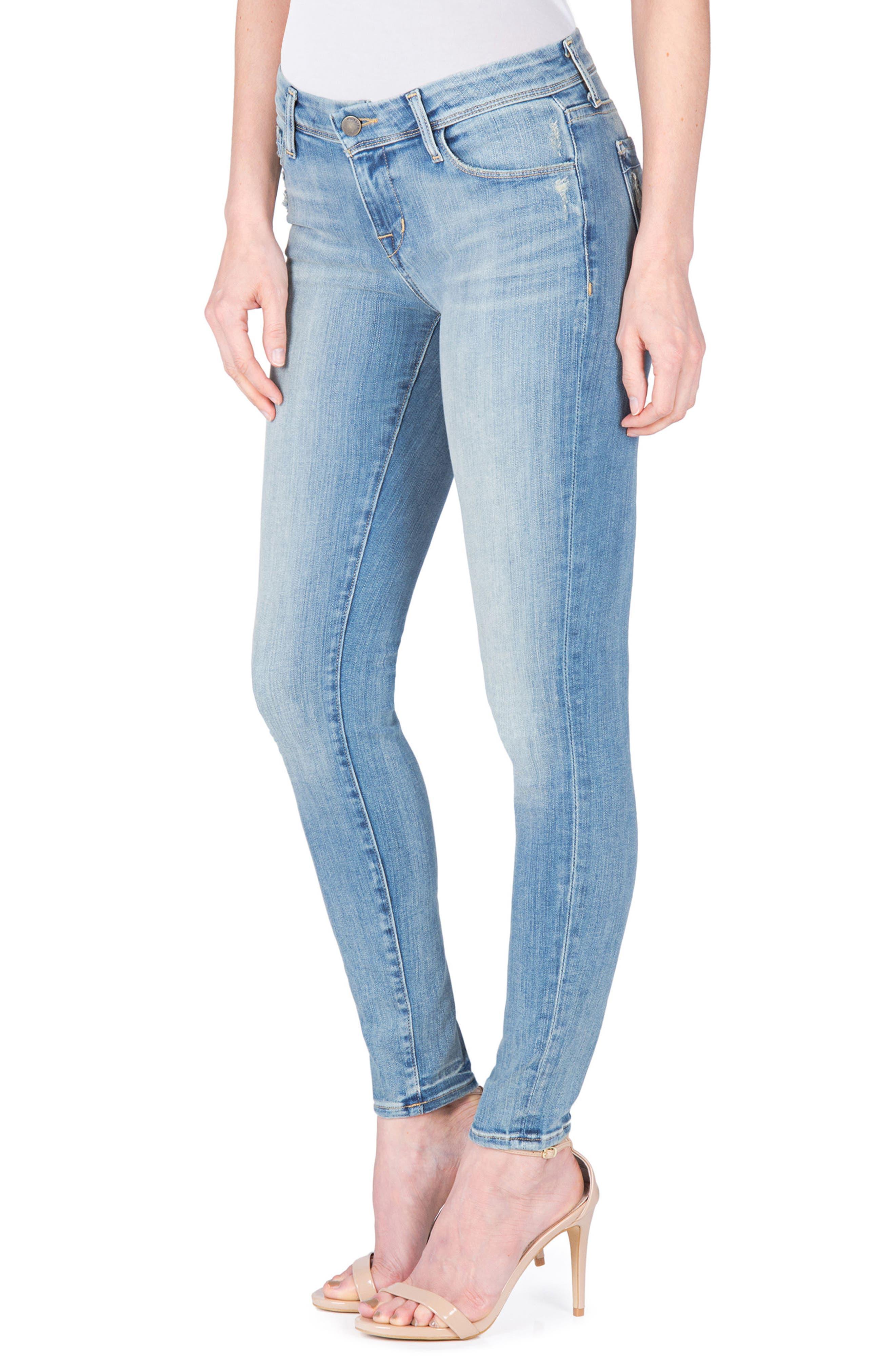 Mila Ankle Skinny Jeans,                             Alternate thumbnail 3, color,                             400