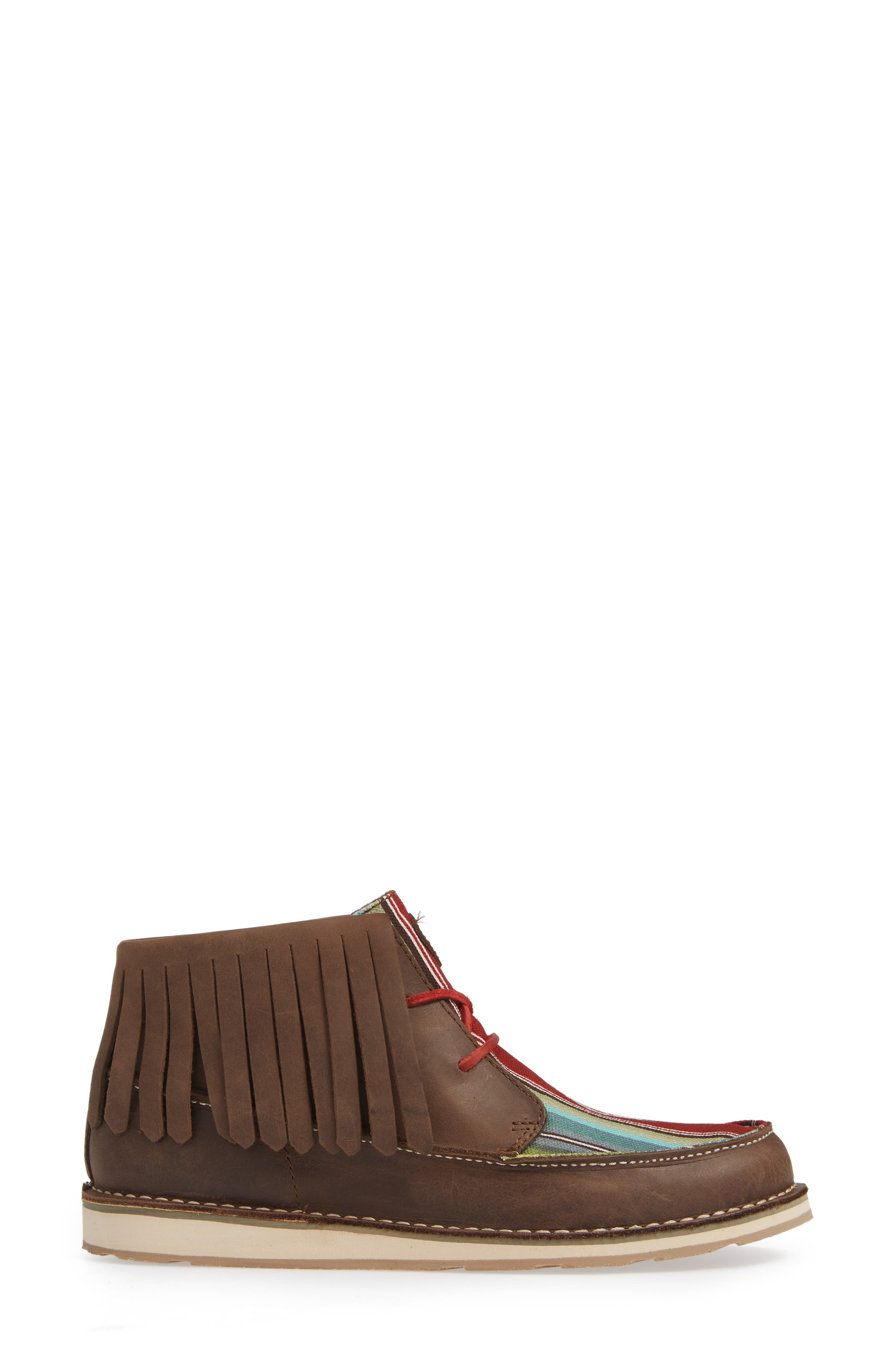 Cruiser Fringe Chukka Boot,                             Alternate thumbnail 3, color,                             PALM BROWN SADDLE LEATHER