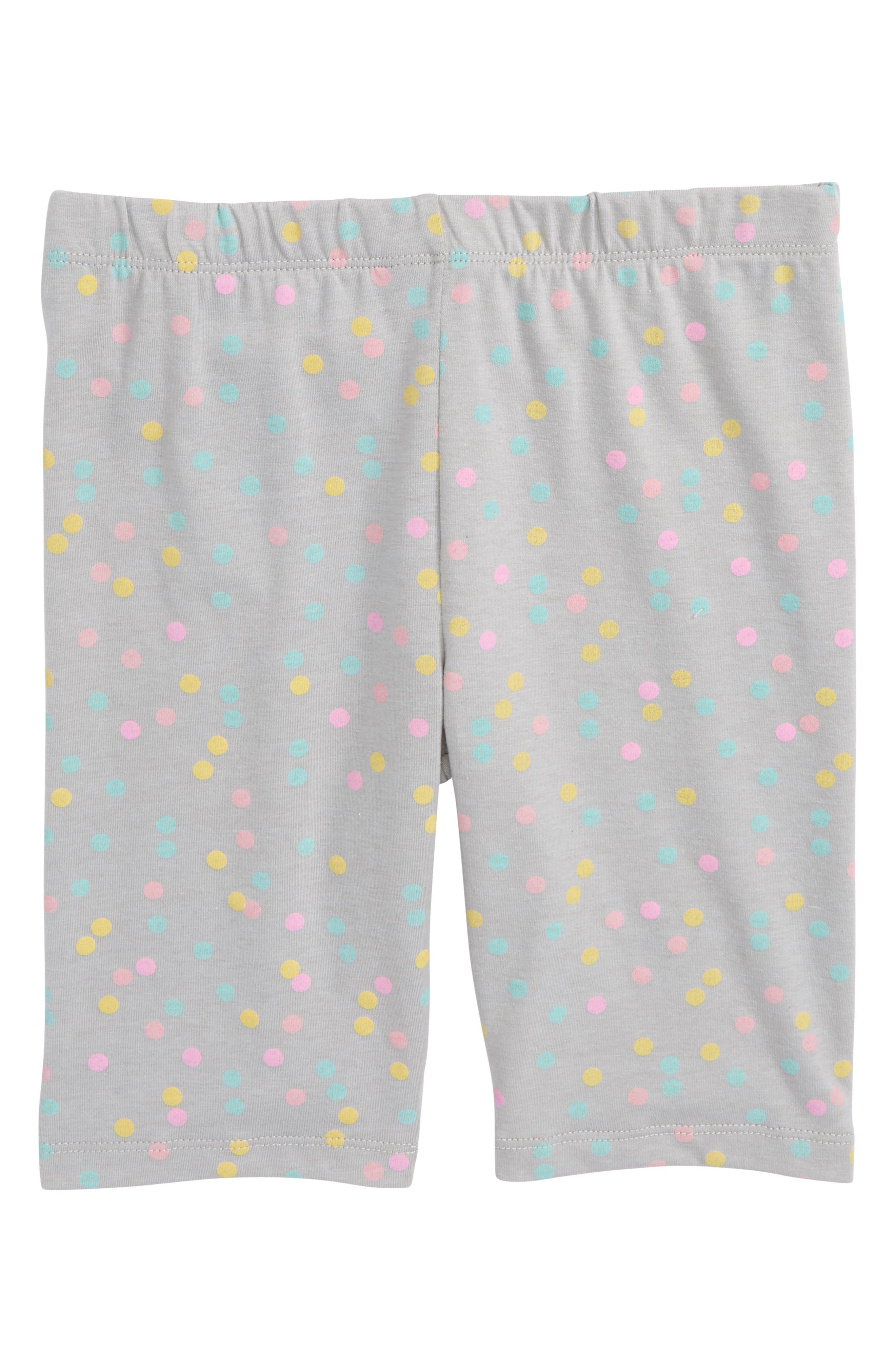 TRULY ME Polka Dot Biker Shorts, Main, color, 024