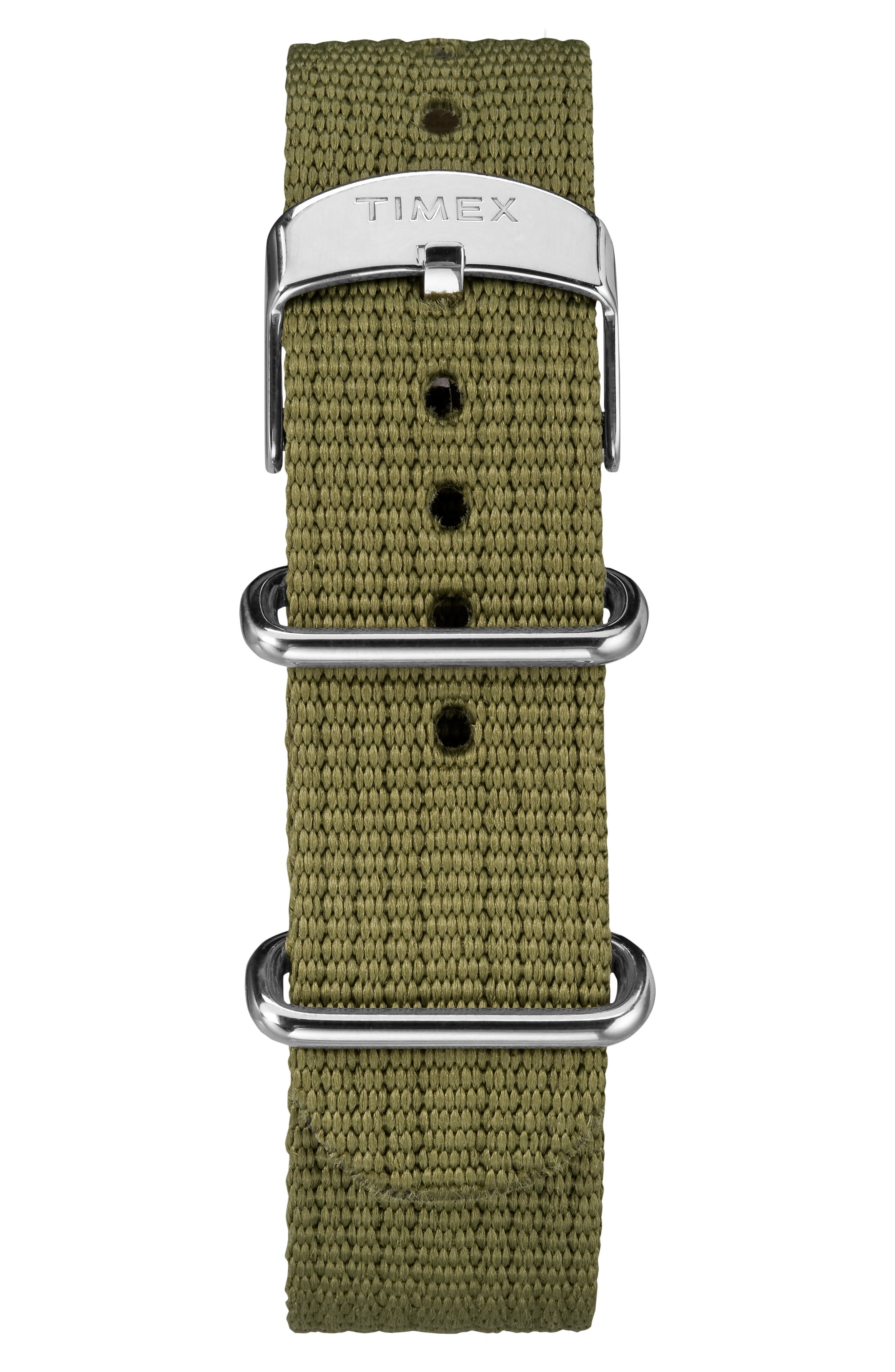 Timex<sup>®</sup> x Todd Snyder The Military NATO Strap Watch, 40mm,                             Alternate thumbnail 4, color,                             BLACK/ GREEN