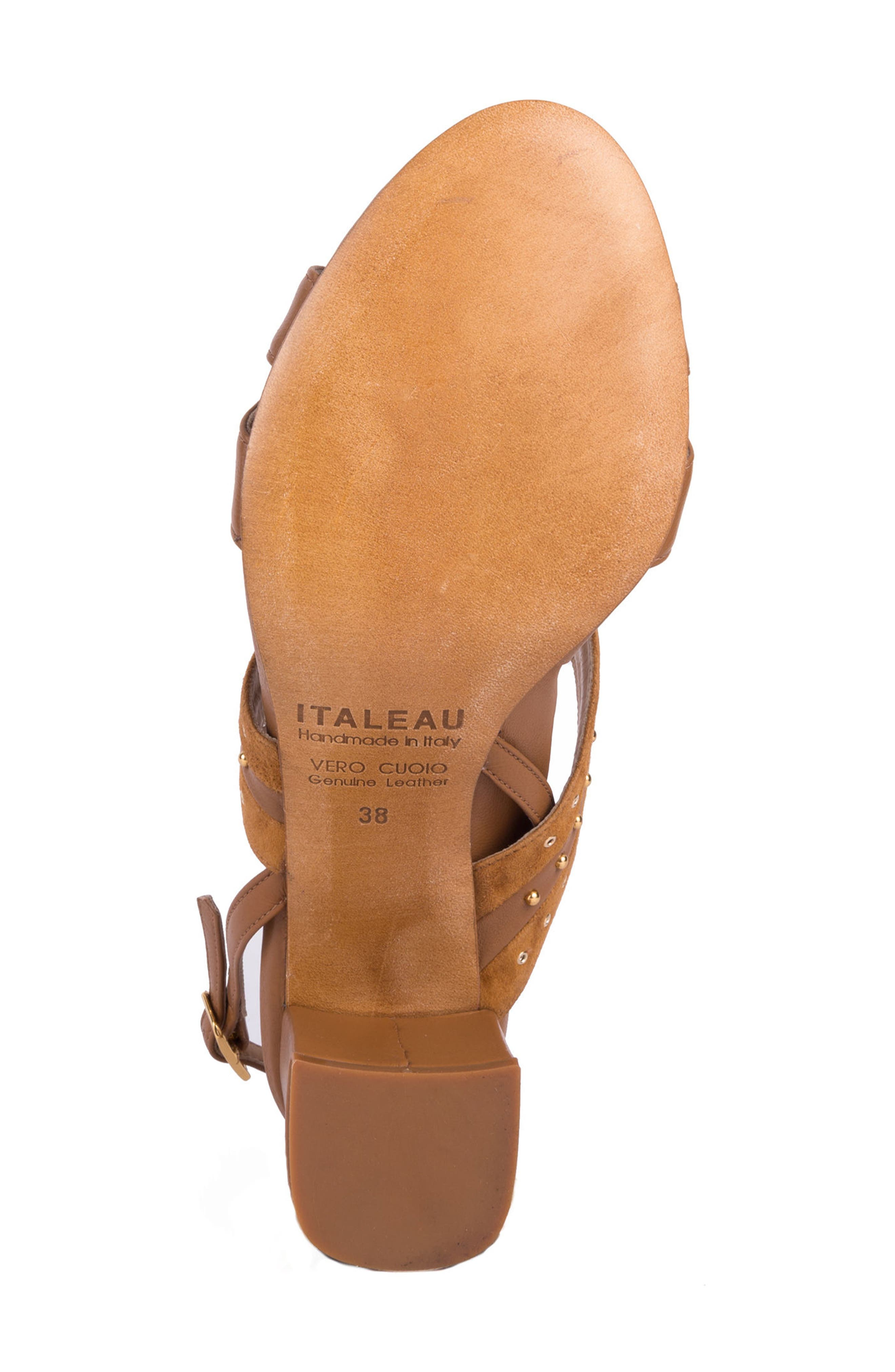 Soldani Studded Slingback Sandal,                             Alternate thumbnail 6, color,