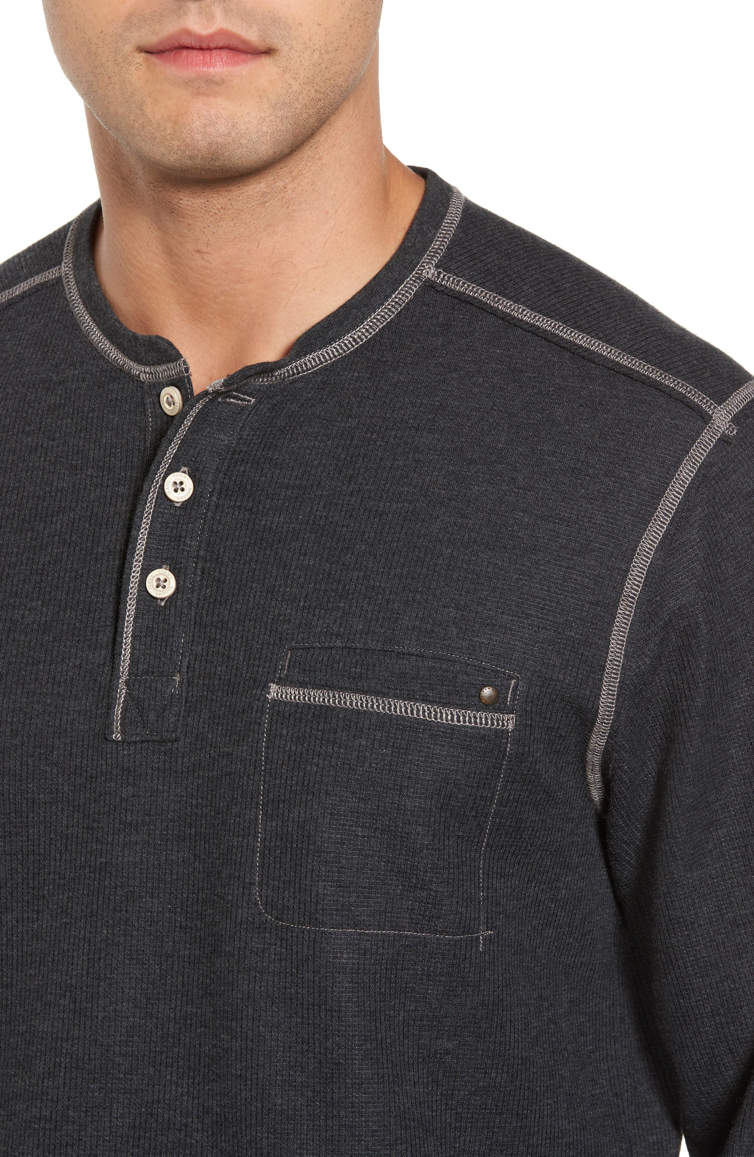 Island Thermal Standard Fit Thermal Henley,                             Alternate thumbnail 4, color,                             050