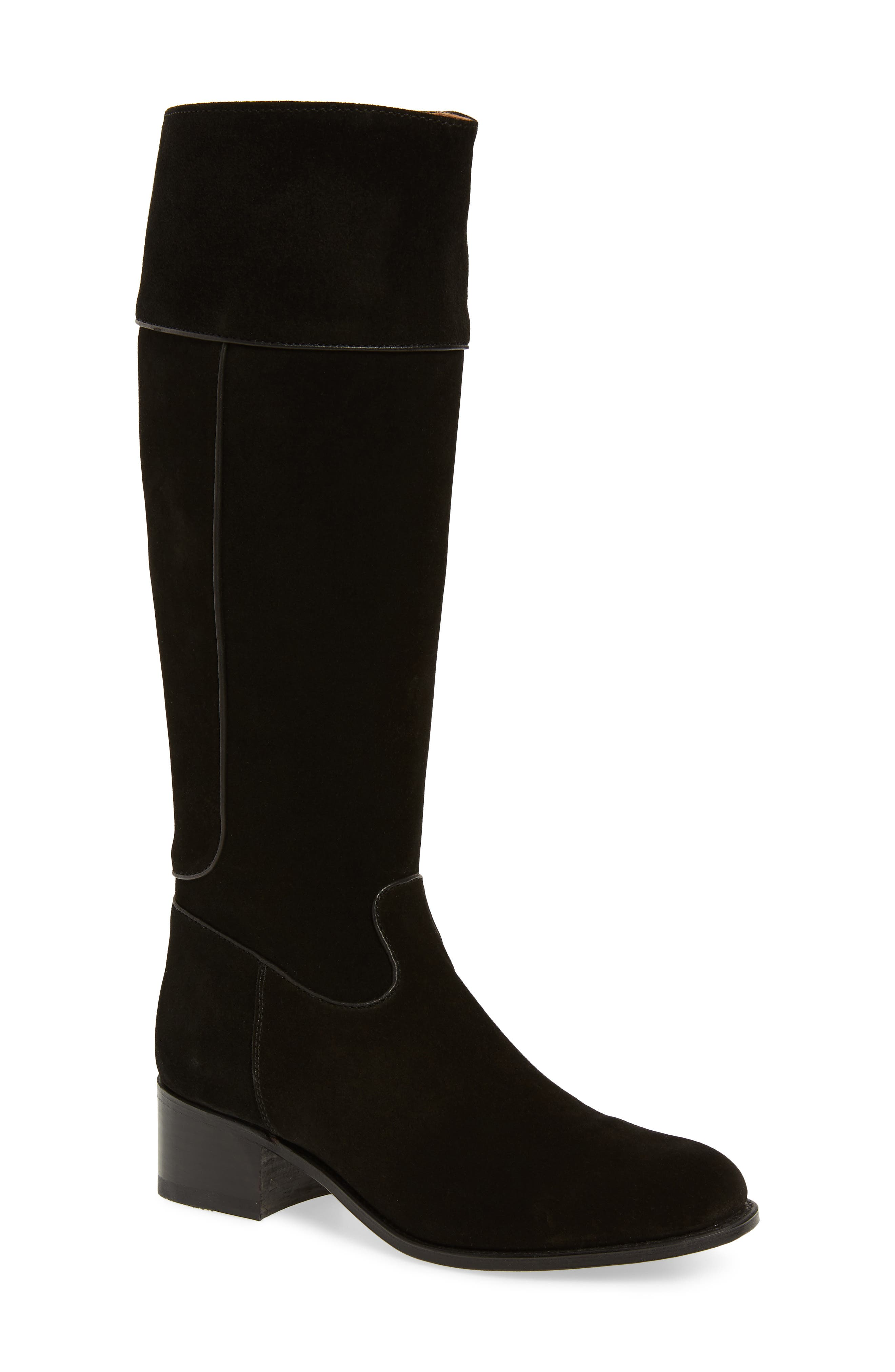 Two24 by Ariat Barcelona Boot,                             Main thumbnail 1, color,                             BLACK SUEDE
