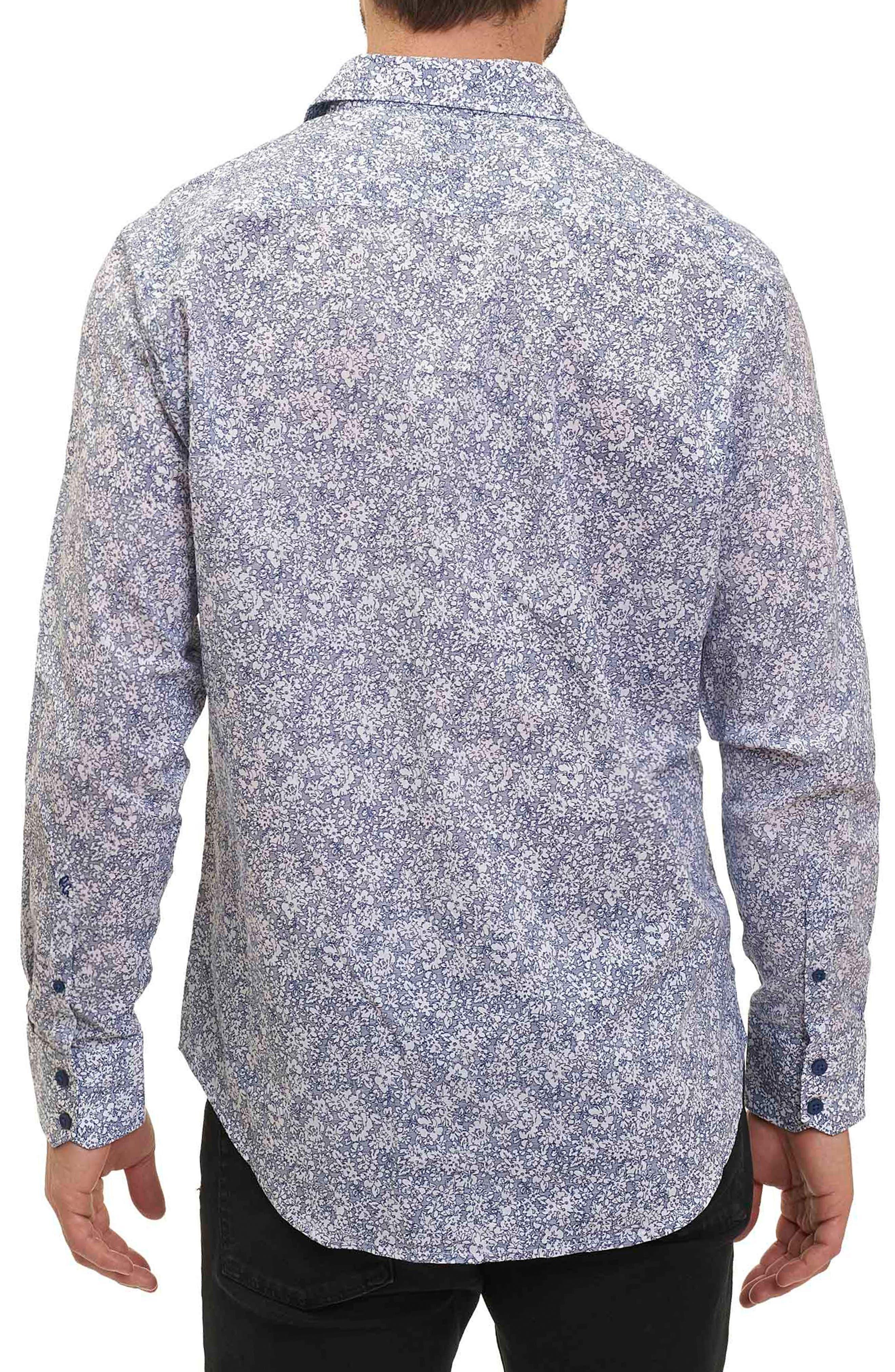 Moss Landing Classic Fit Floral Print Sport Shirt,                             Alternate thumbnail 2, color,                             471