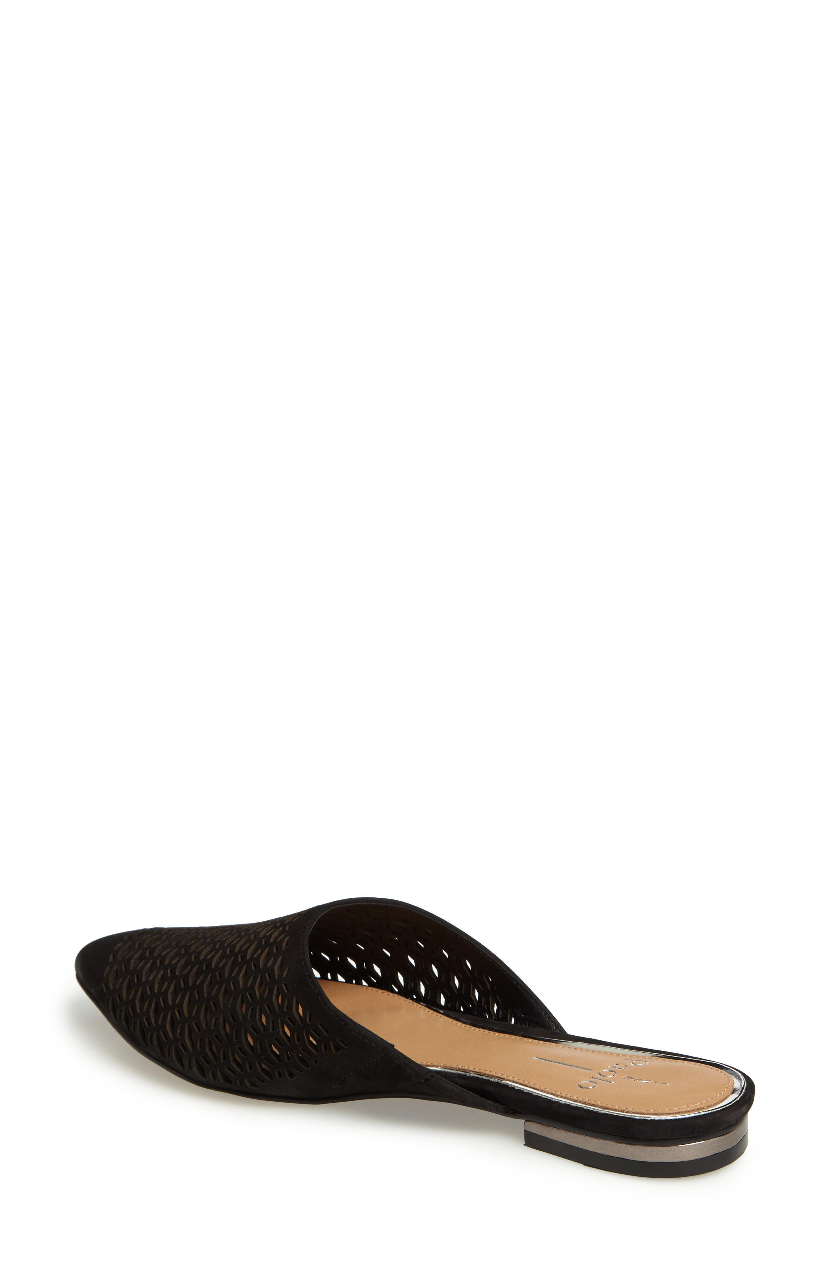Daisy Perforated Mule,                             Alternate thumbnail 2, color,                             007