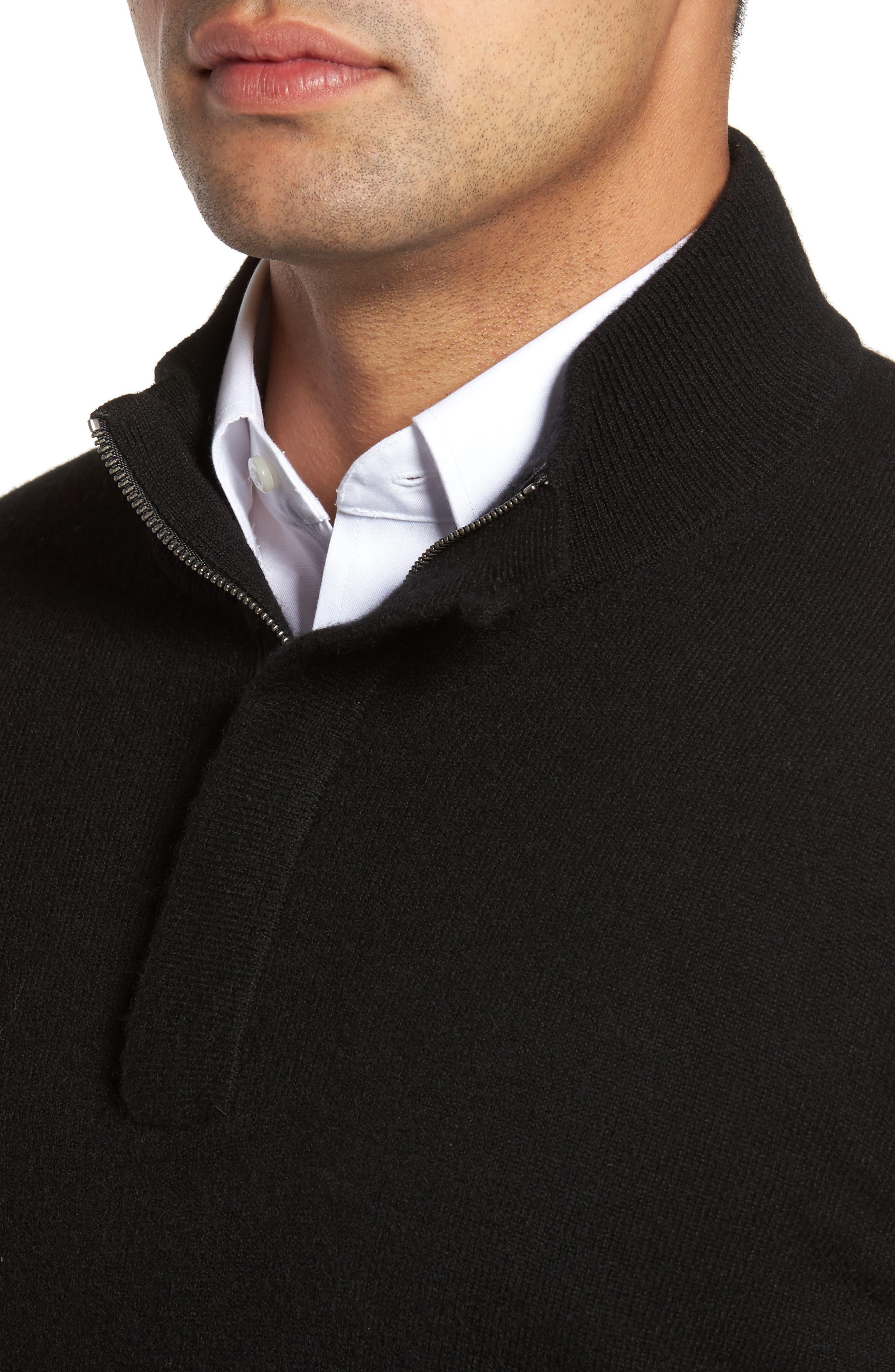 Cashmere Quarter Zip Sweater,                             Alternate thumbnail 19, color,