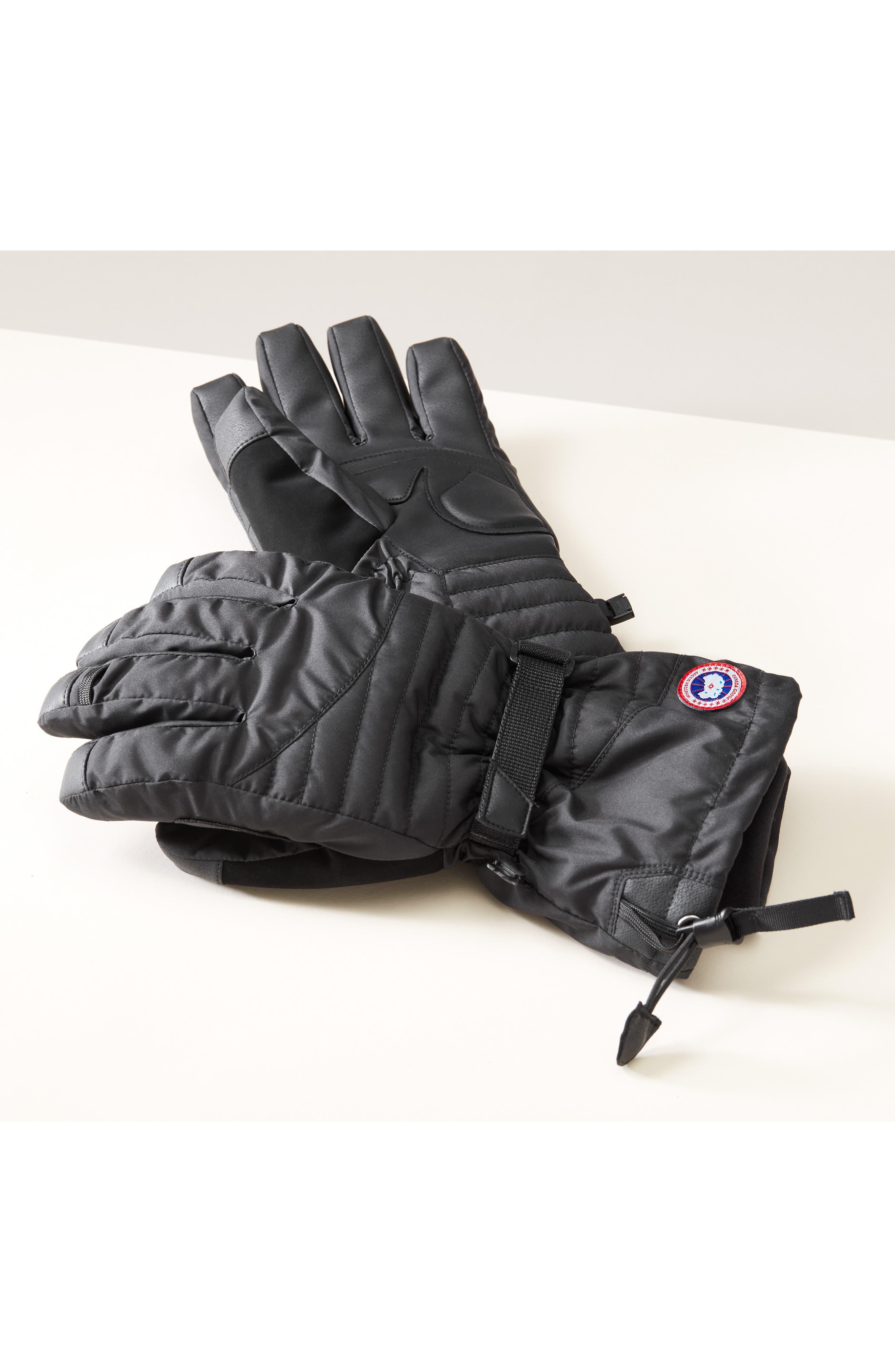 Arctic Down Gloves,                             Alternate thumbnail 4, color,                             BLACK