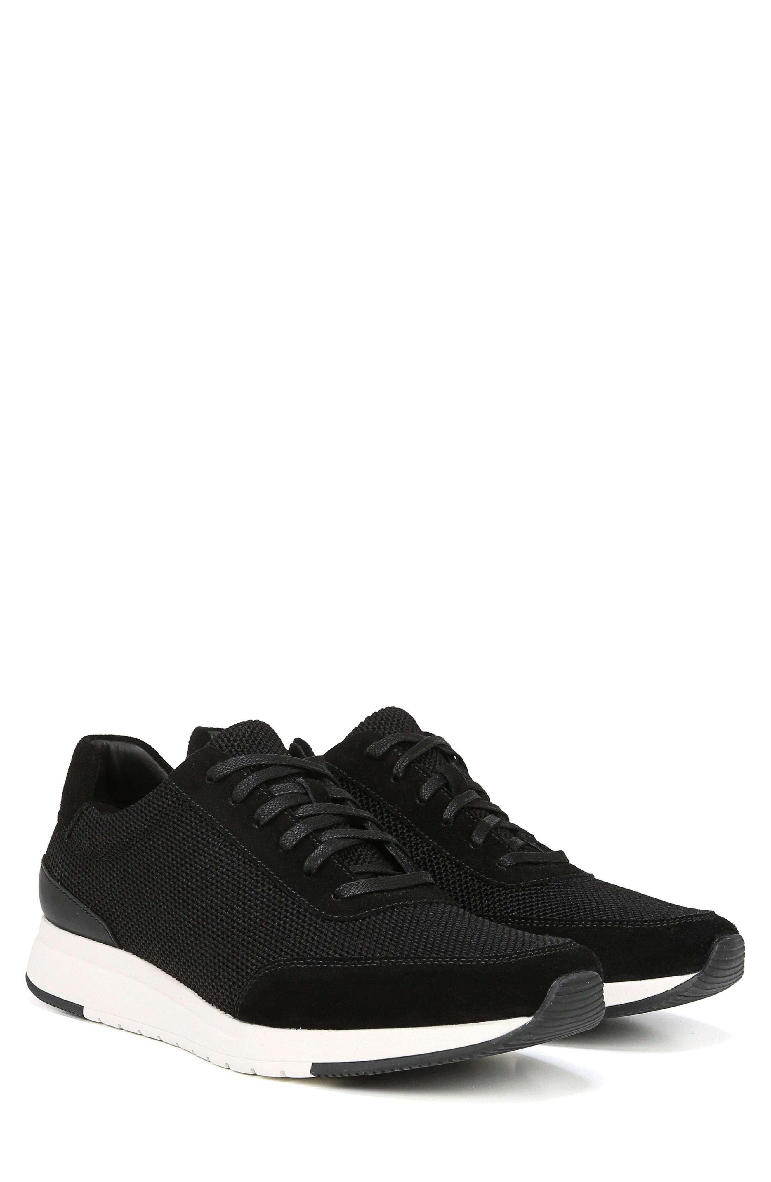 Payton Mesh Sneaker,                             Alternate thumbnail 8, color,                             BLACK