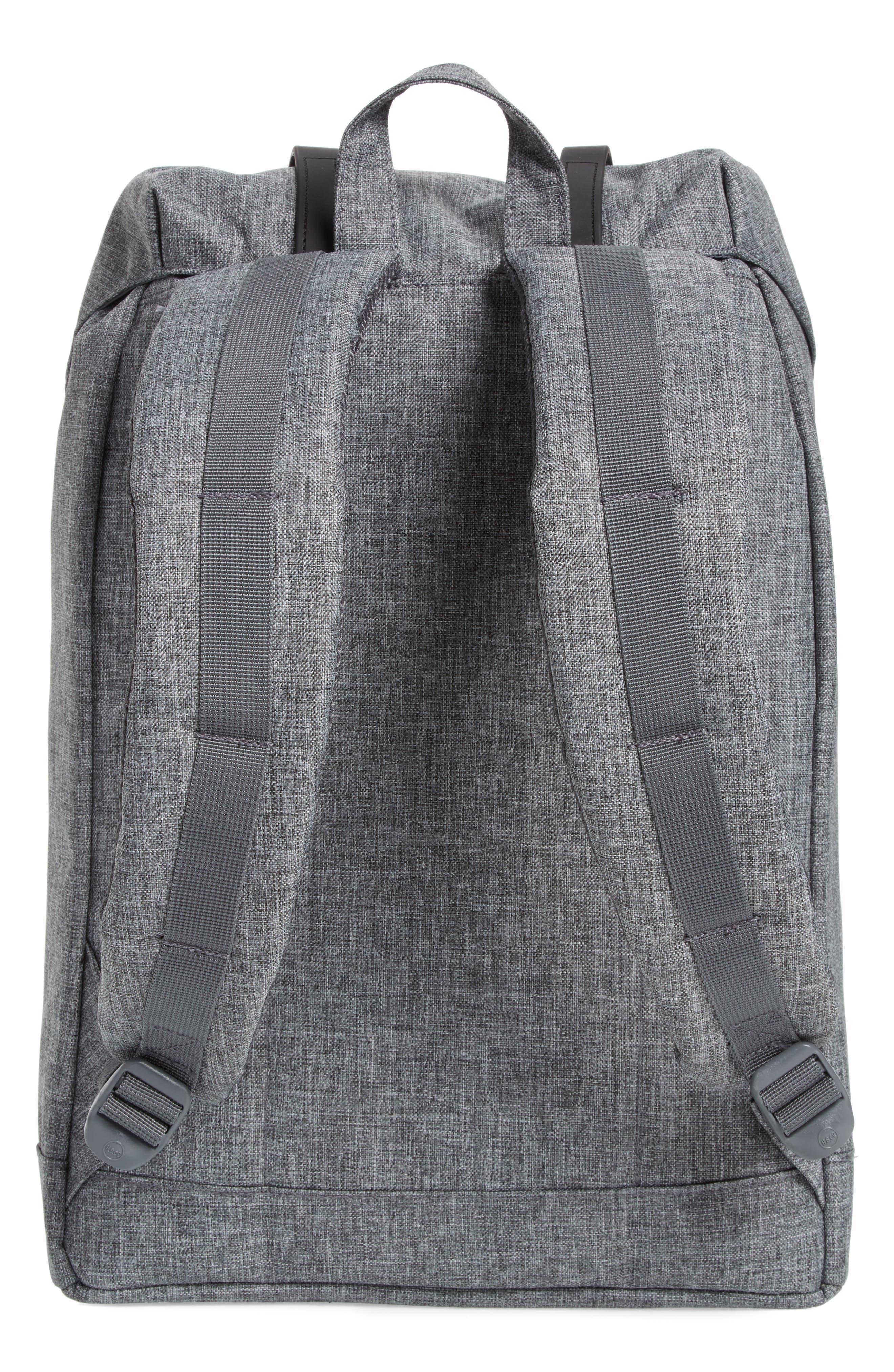 Retreat Backpack,                             Alternate thumbnail 3, color,                             RAVEN CROSSHATCH